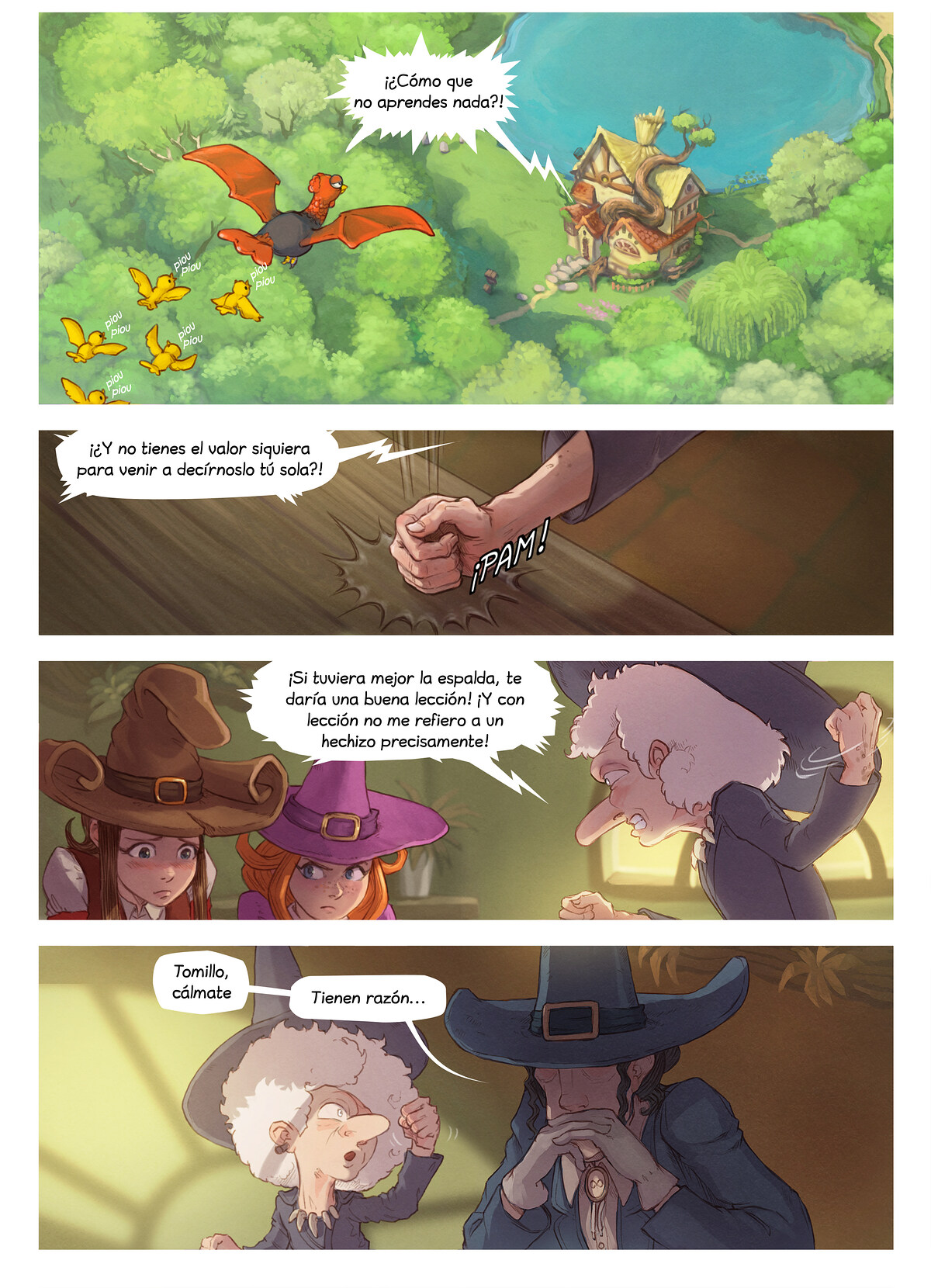 A webcomic page of Pepper&Carrot, episodio 3 , página 3