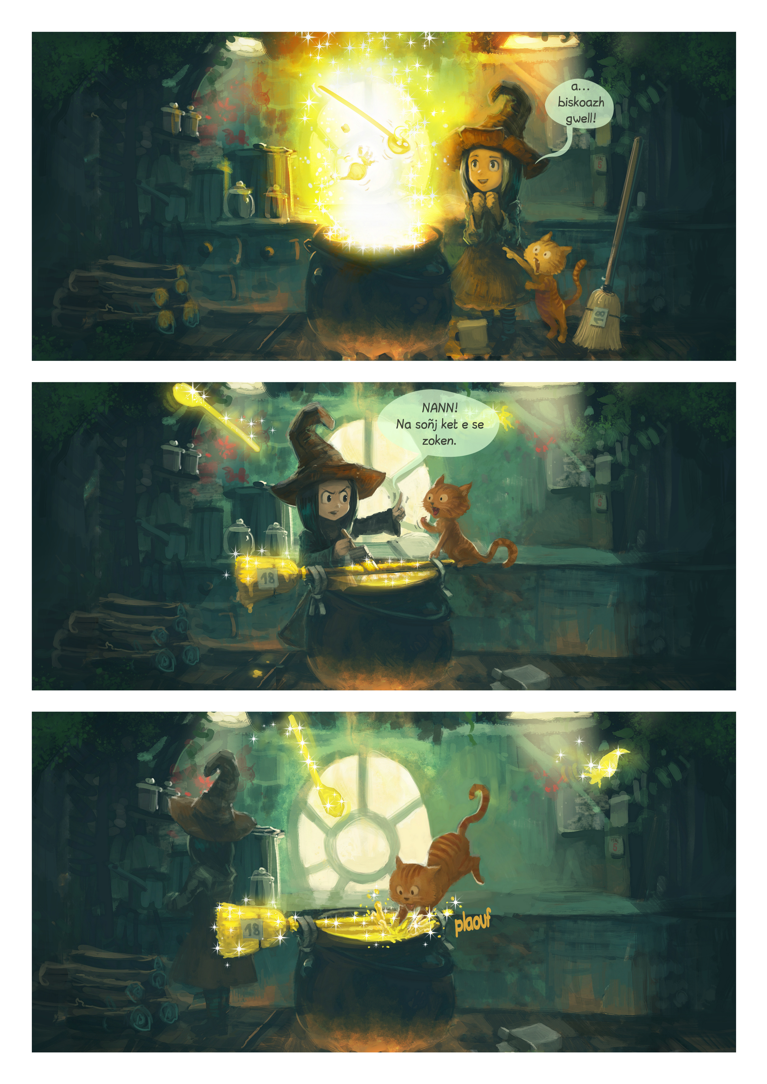 A webcomic page of Pepper&Carrot, rann 1 [br], pajenn 2