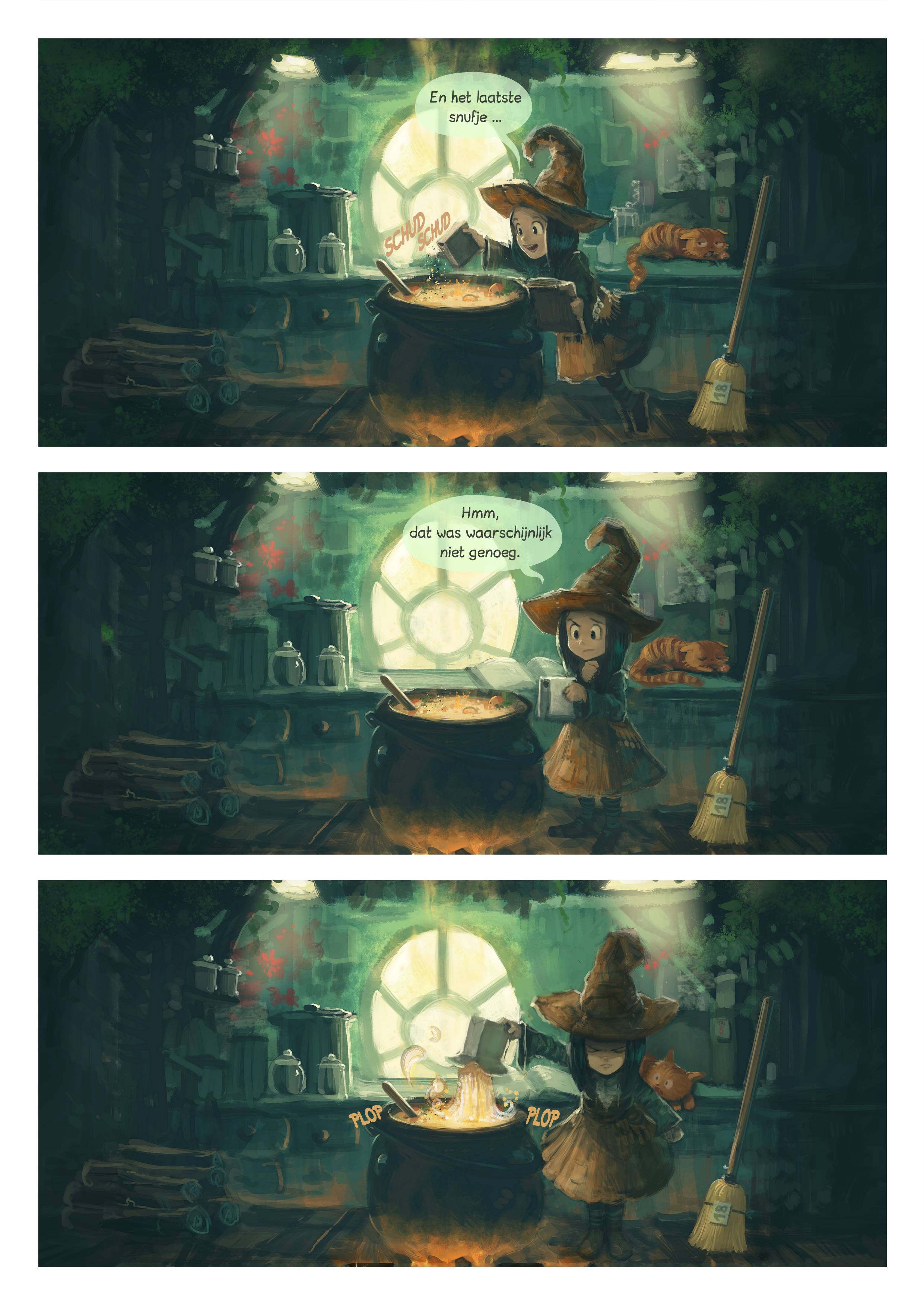 A webcomic page of Pepper&Carrot, aflevering 1 [nl], pagina 1