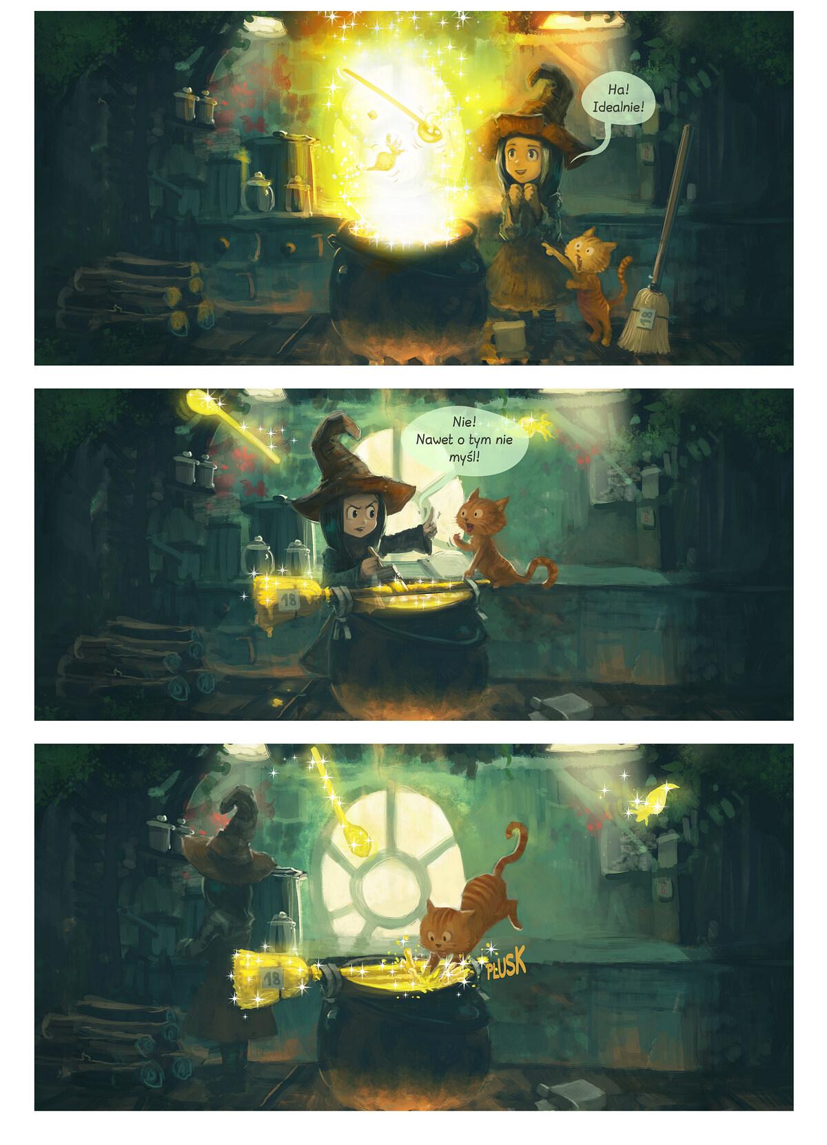 A webcomic page of Pepper&Carrot, odcinek 1 [pl], strona 2