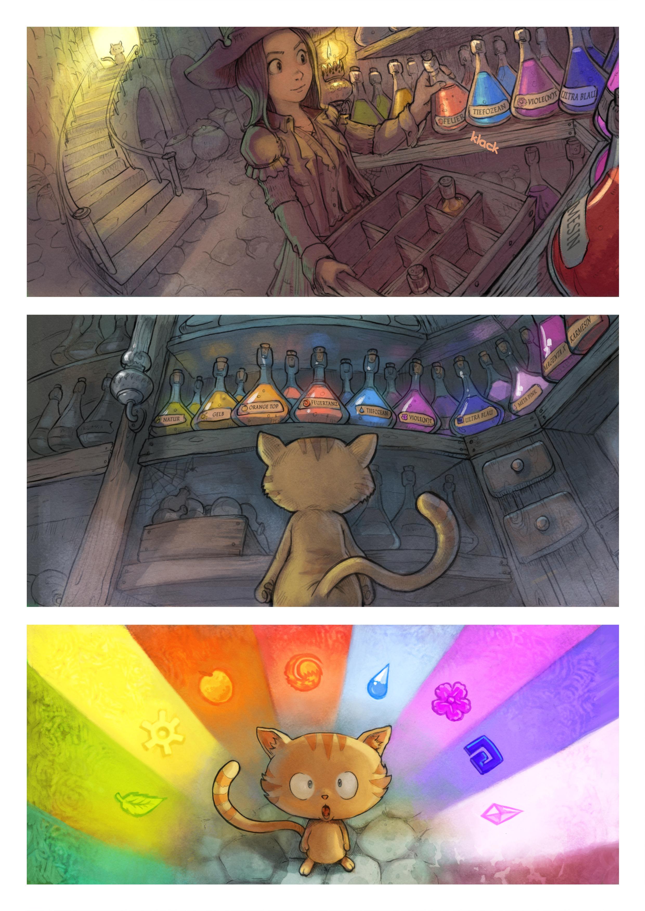 A webcomic page of Pepper&Carrot, Episode 2 [de], Seite 2