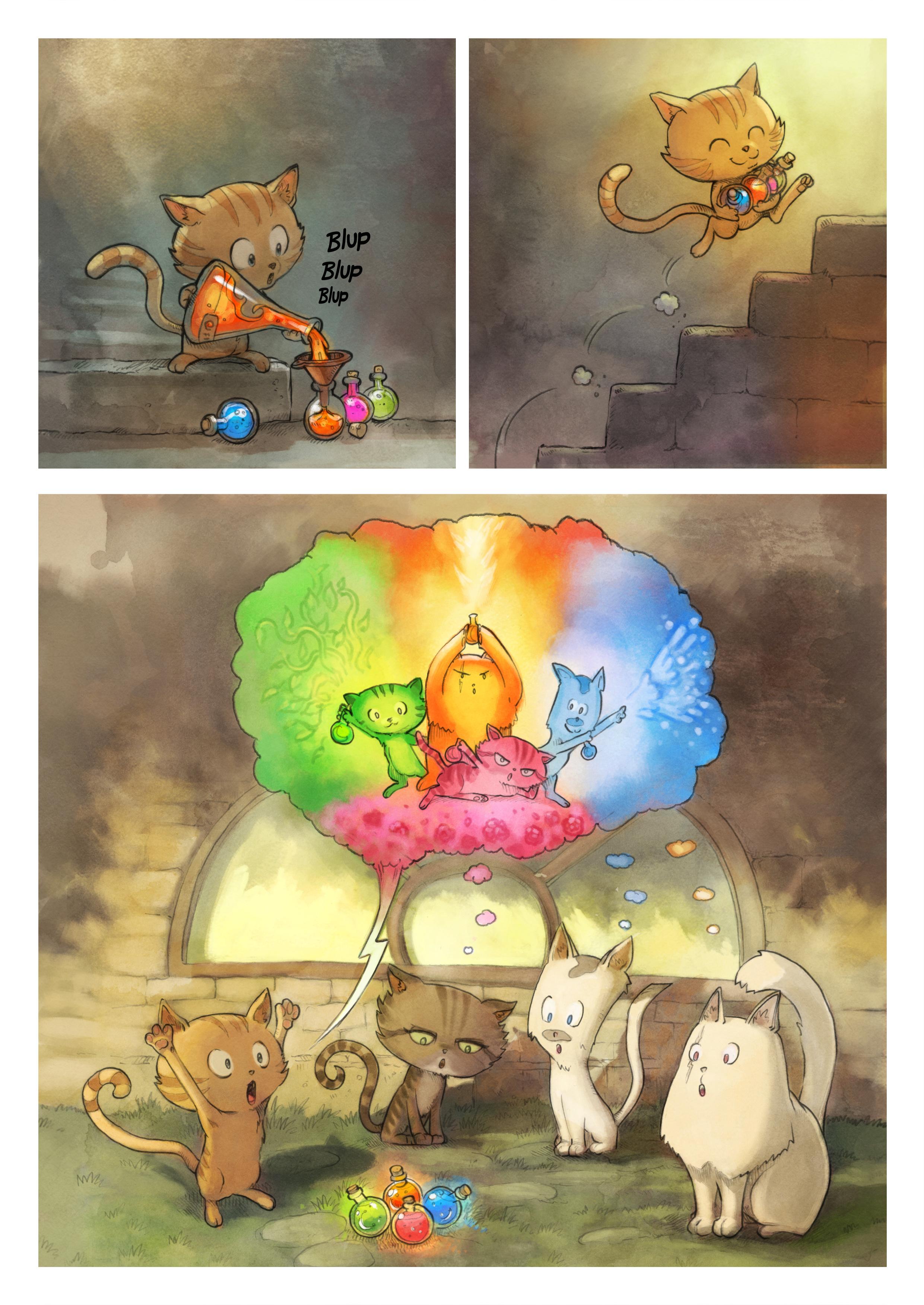A webcomic page of Pepper&Carrot, Episode 2 [de], Seite 3