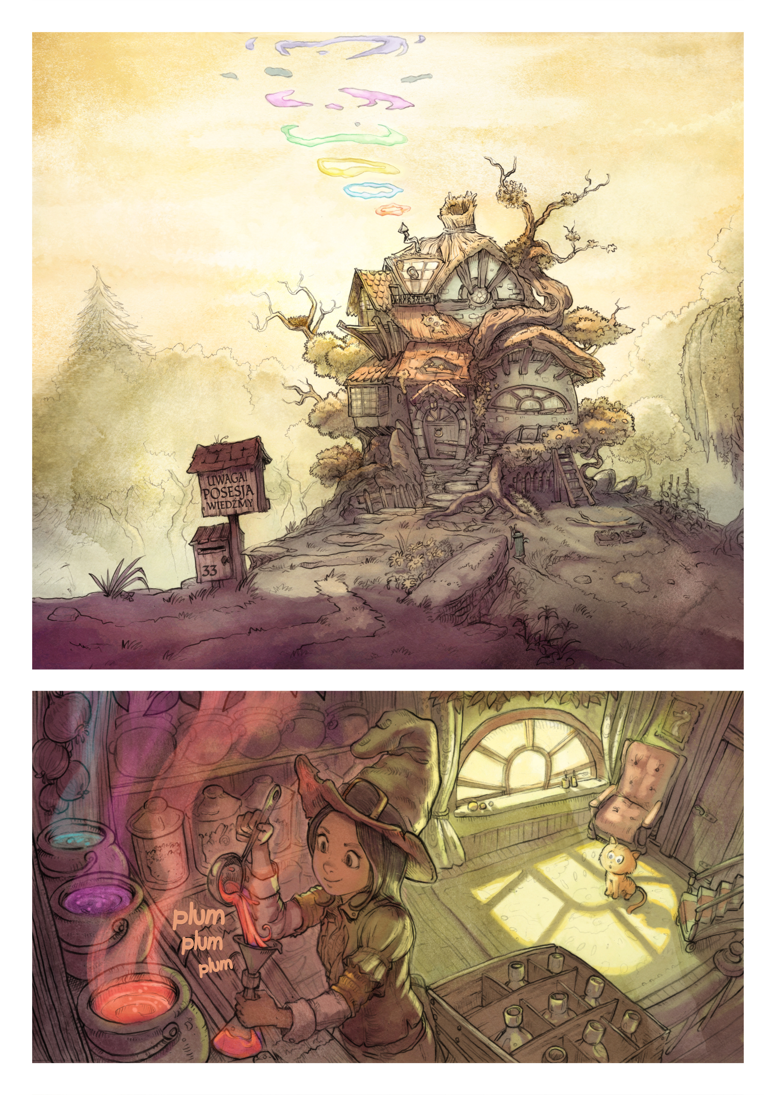 A webcomic page of Pepper&Carrot, odcinek 2 [pl], strona 1
