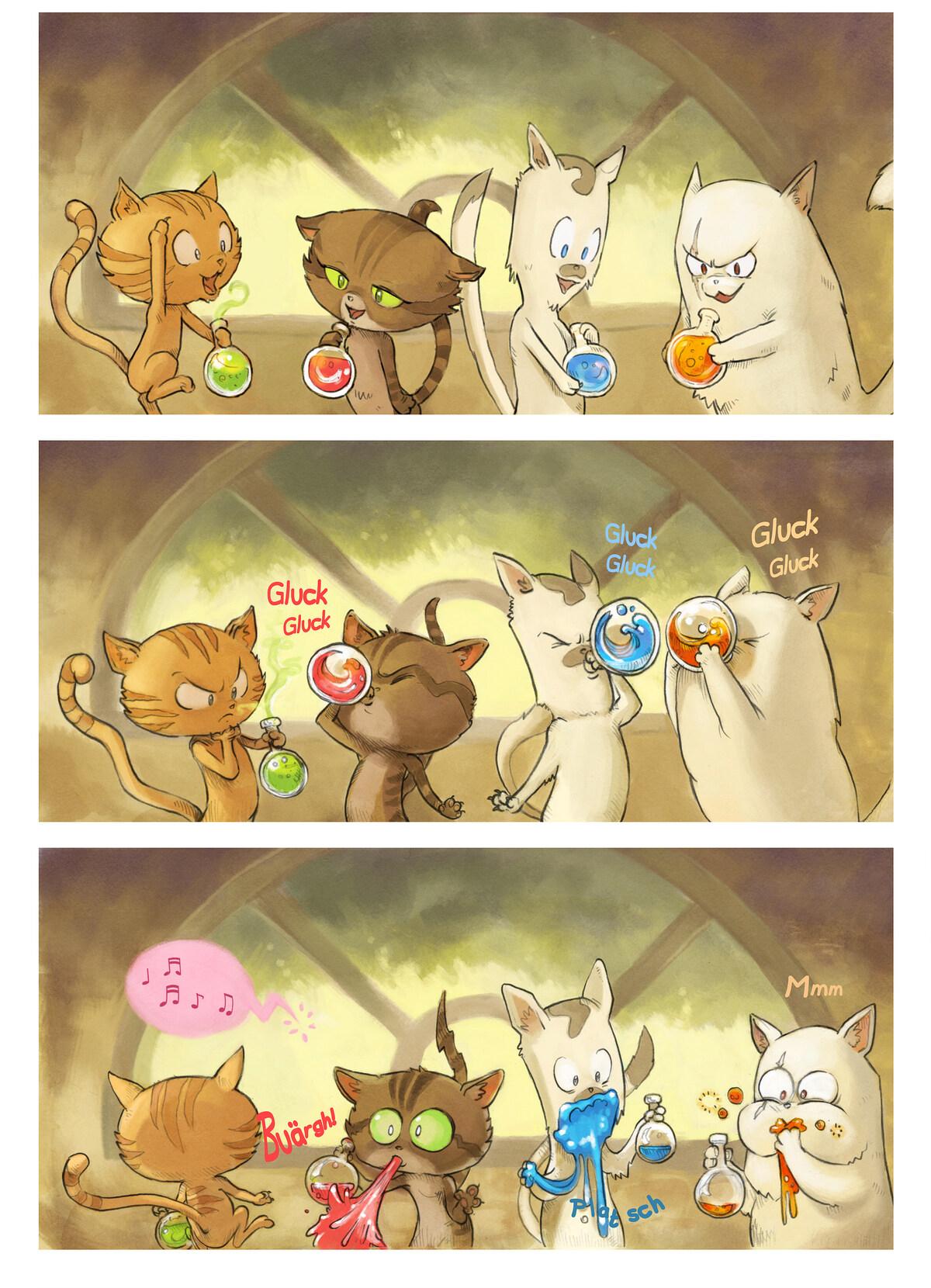 A webcomic page of Pepper&Carrot, Episode 2 [de], Seite 4