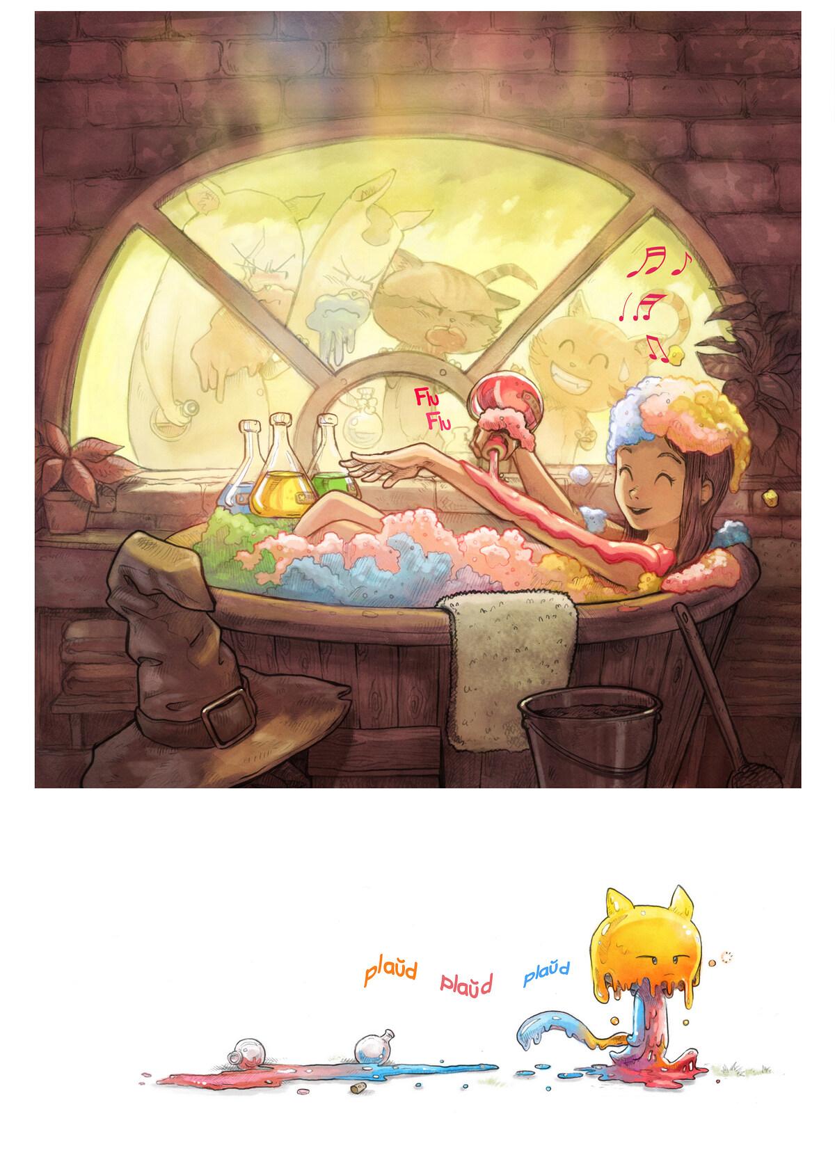 A webcomic page of Pepper&Carrot, rakonto 2 [eo], paĝo 5