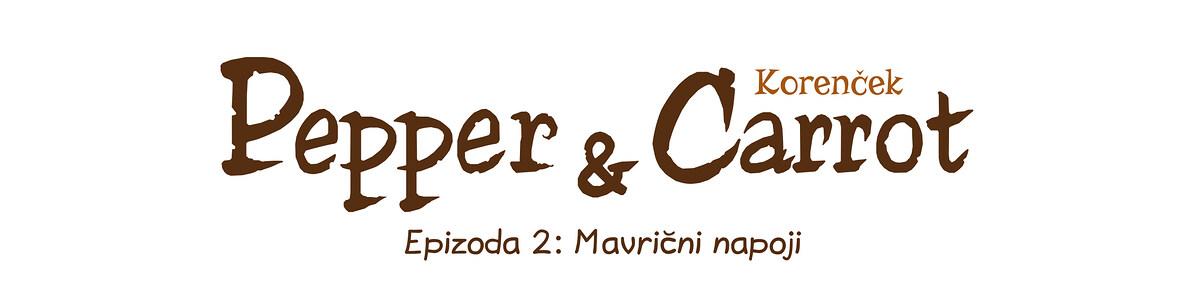 A webcomic page of Pepper&Carrot, epizoda 2 [sl], stran 0