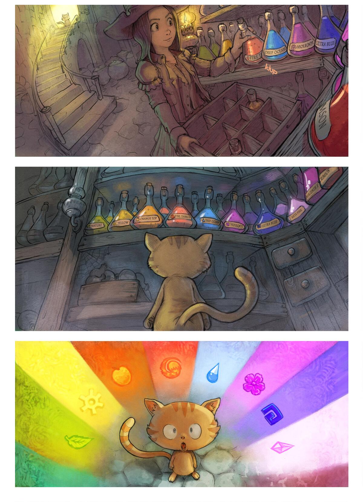A webcomic page of Pepper&Carrot, tajla 2 [sz], strōna 2