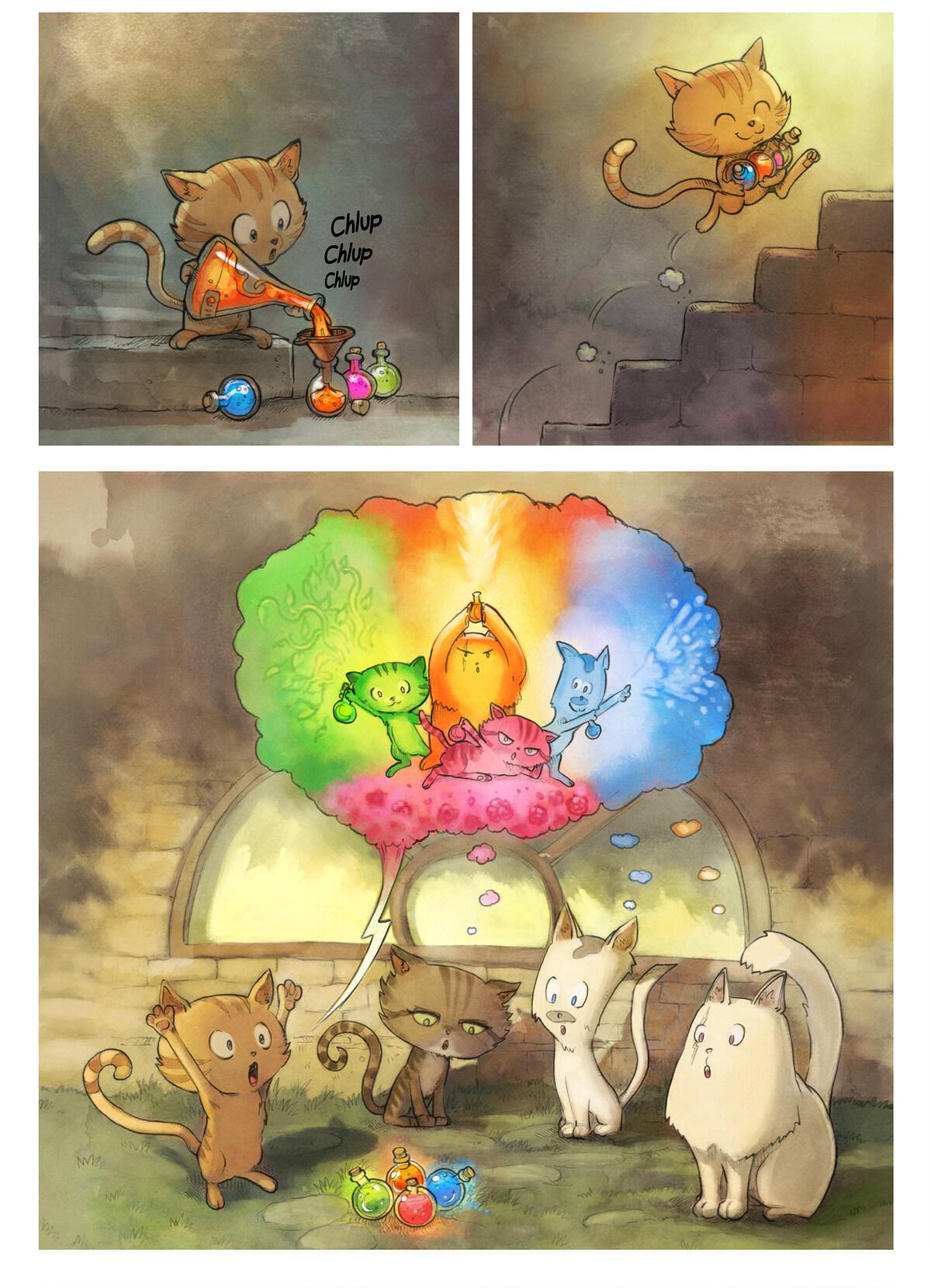 A webcomic page of Pepper&Carrot, tajla 2 [sz], strōna 3