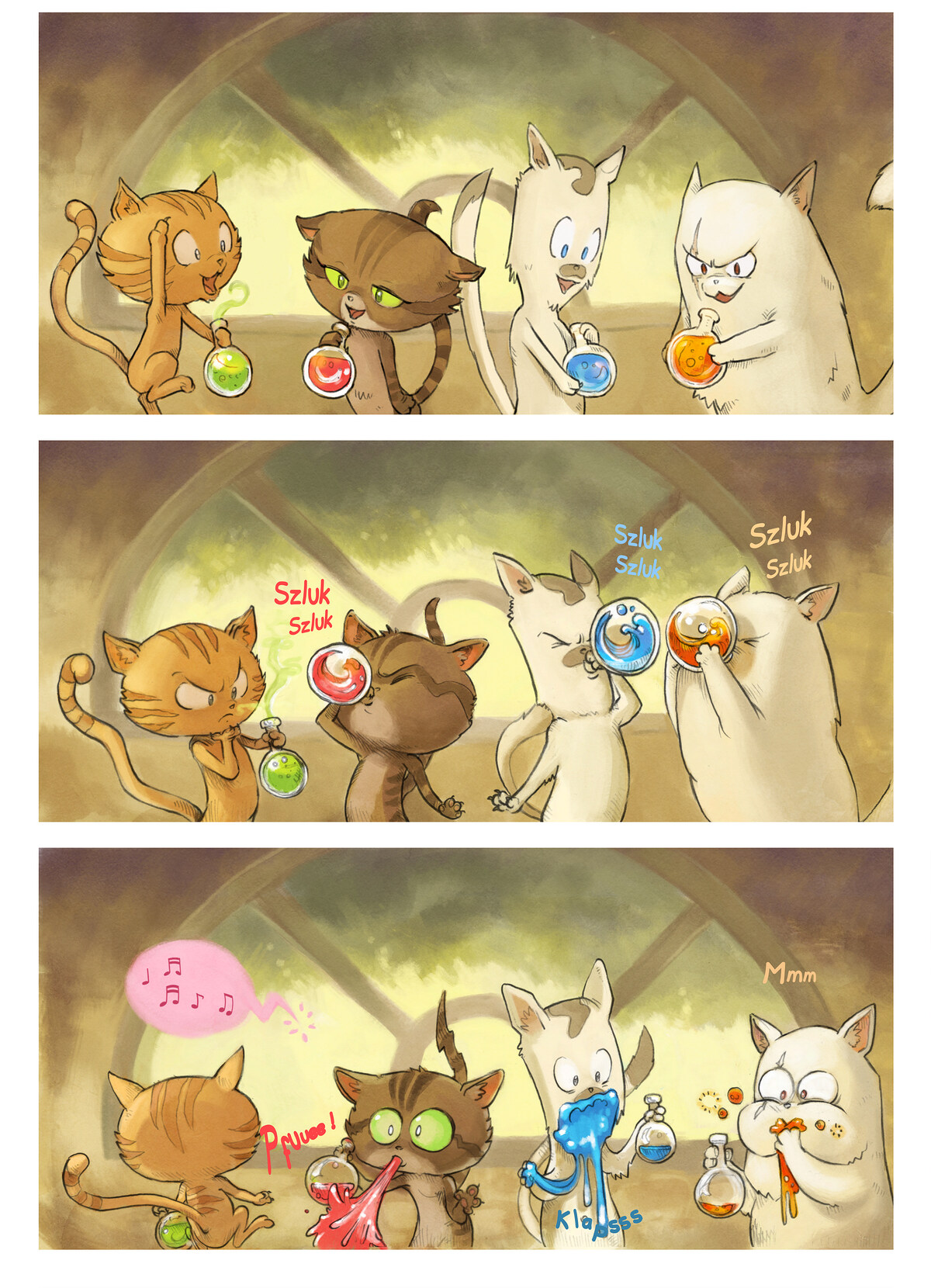 A webcomic page of Pepper&Carrot, tajla 2 [sz], strōna 4