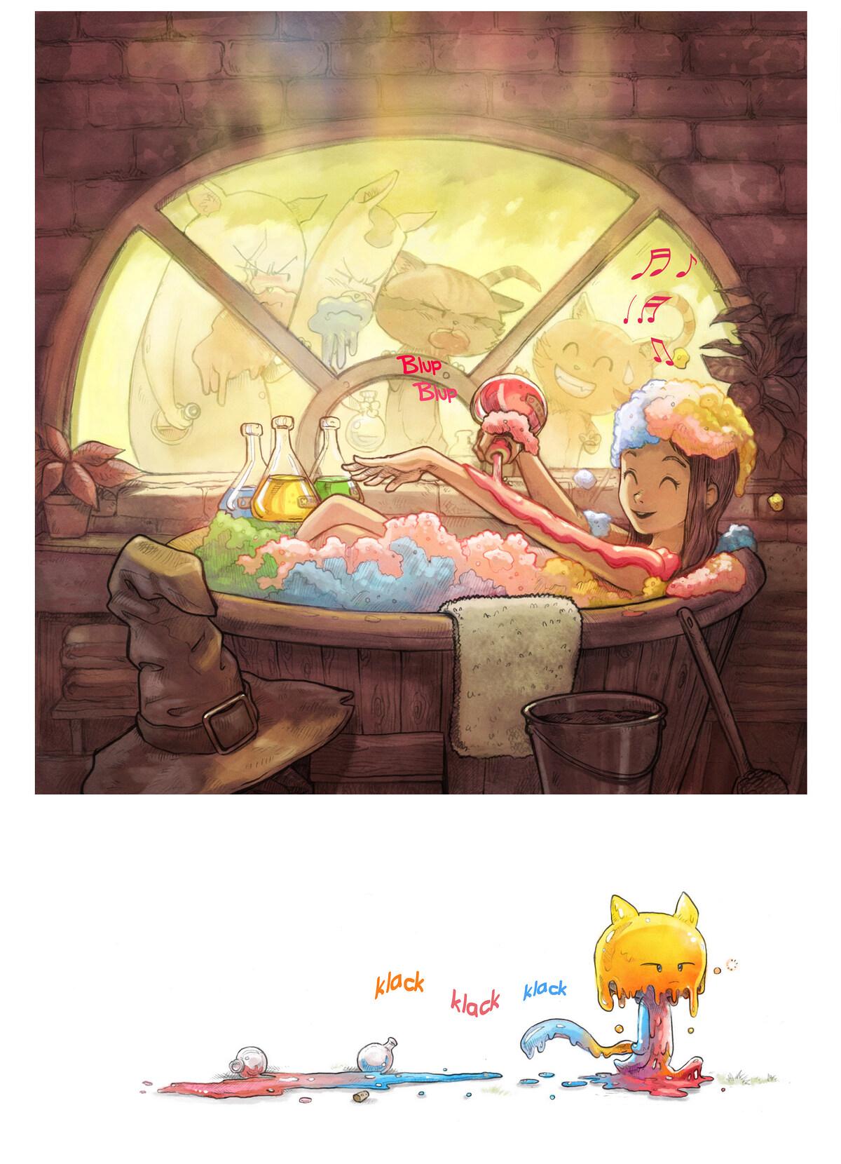 A webcomic page of Pepper&Carrot, tajla 2 [sz], strōna 5