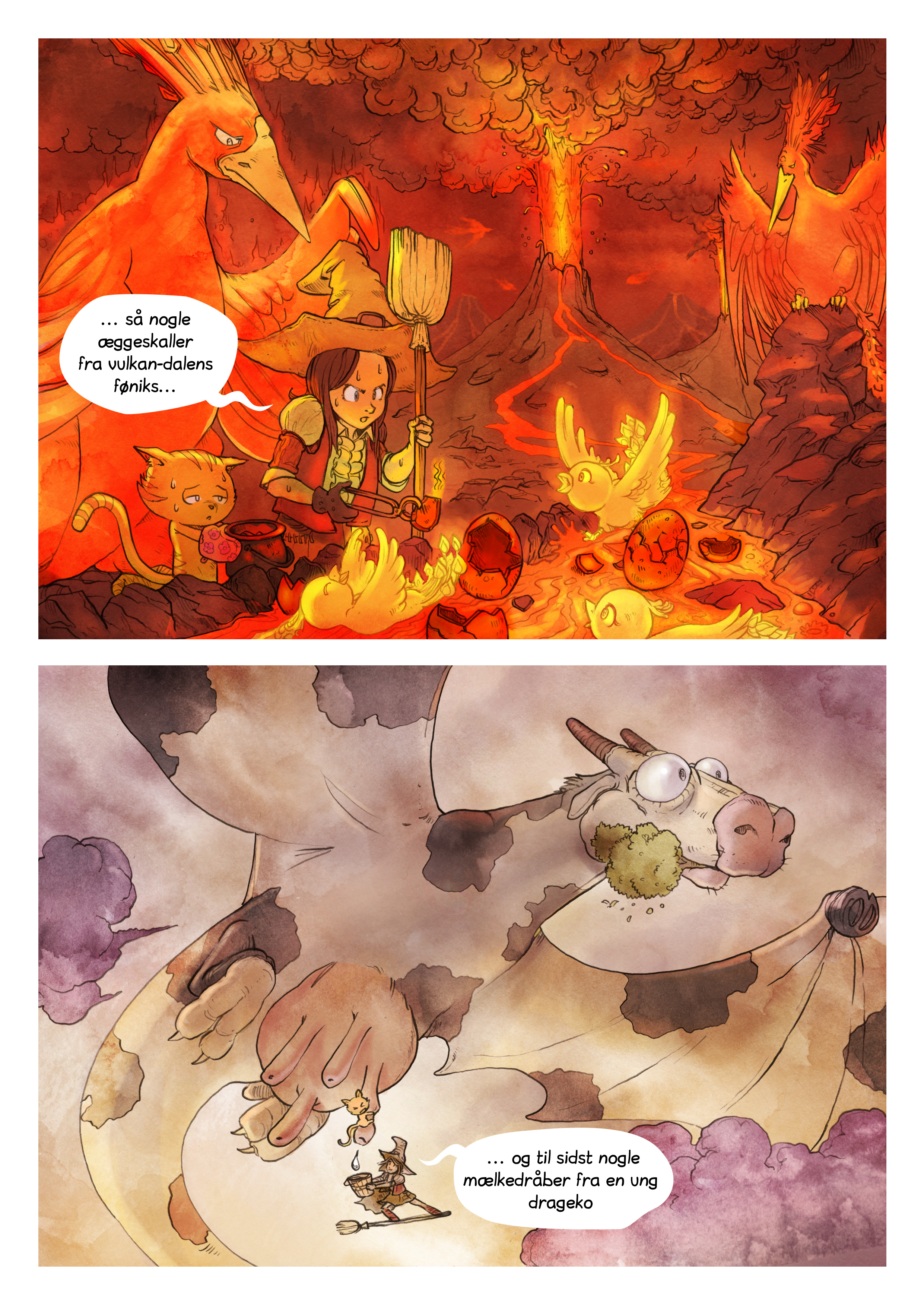 A webcomic page of Pepper&Carrot, episode 3 [da], page 6