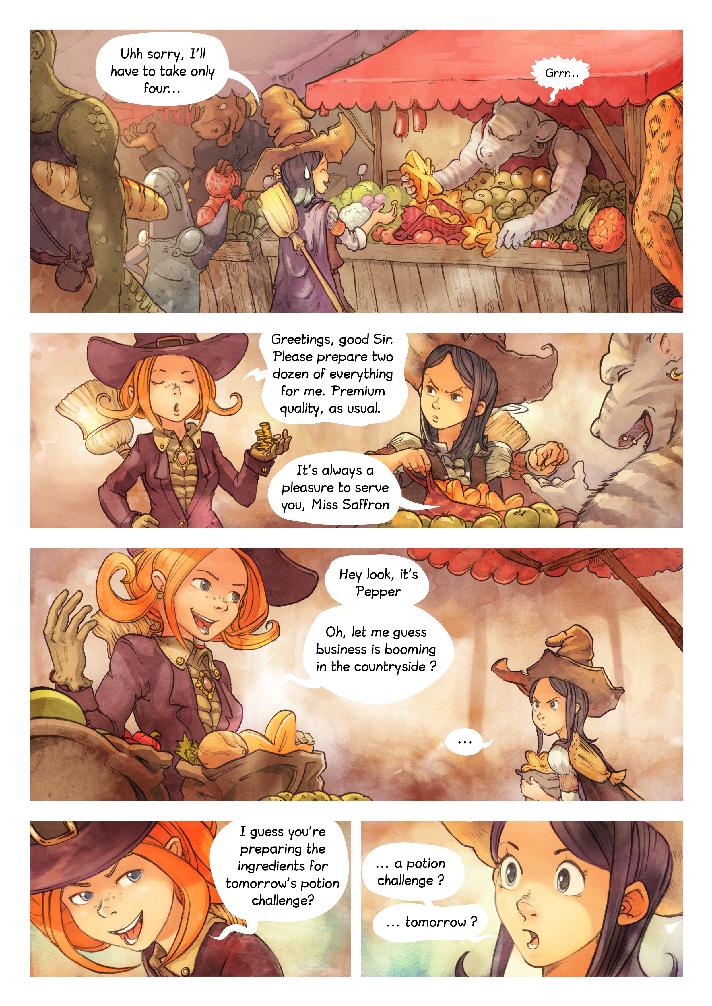 A webcomic page of Pepper&Carrot, episode 3 [en], page 2