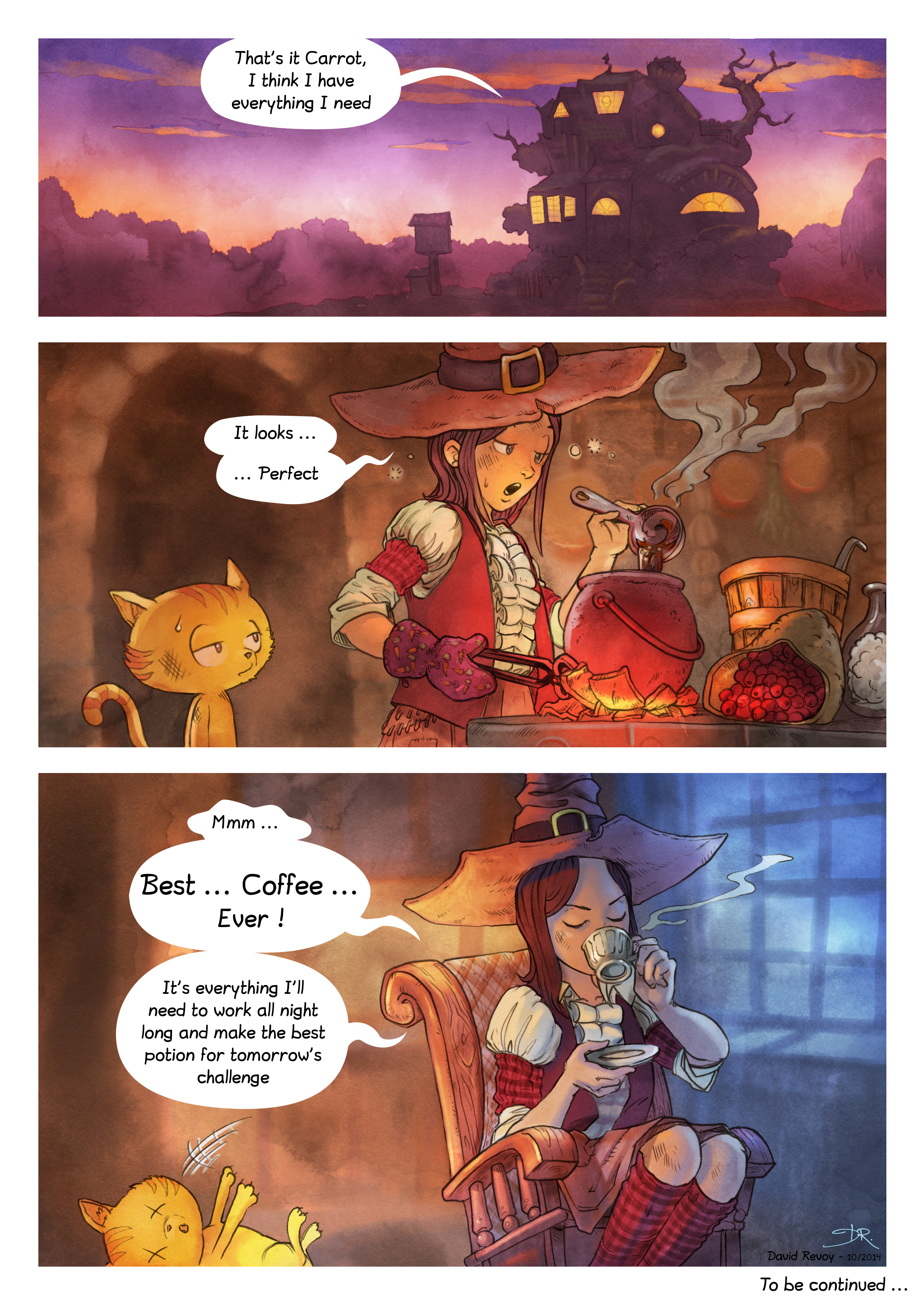 A webcomic page of Pepper&Carrot, episode 3 [en], page 7