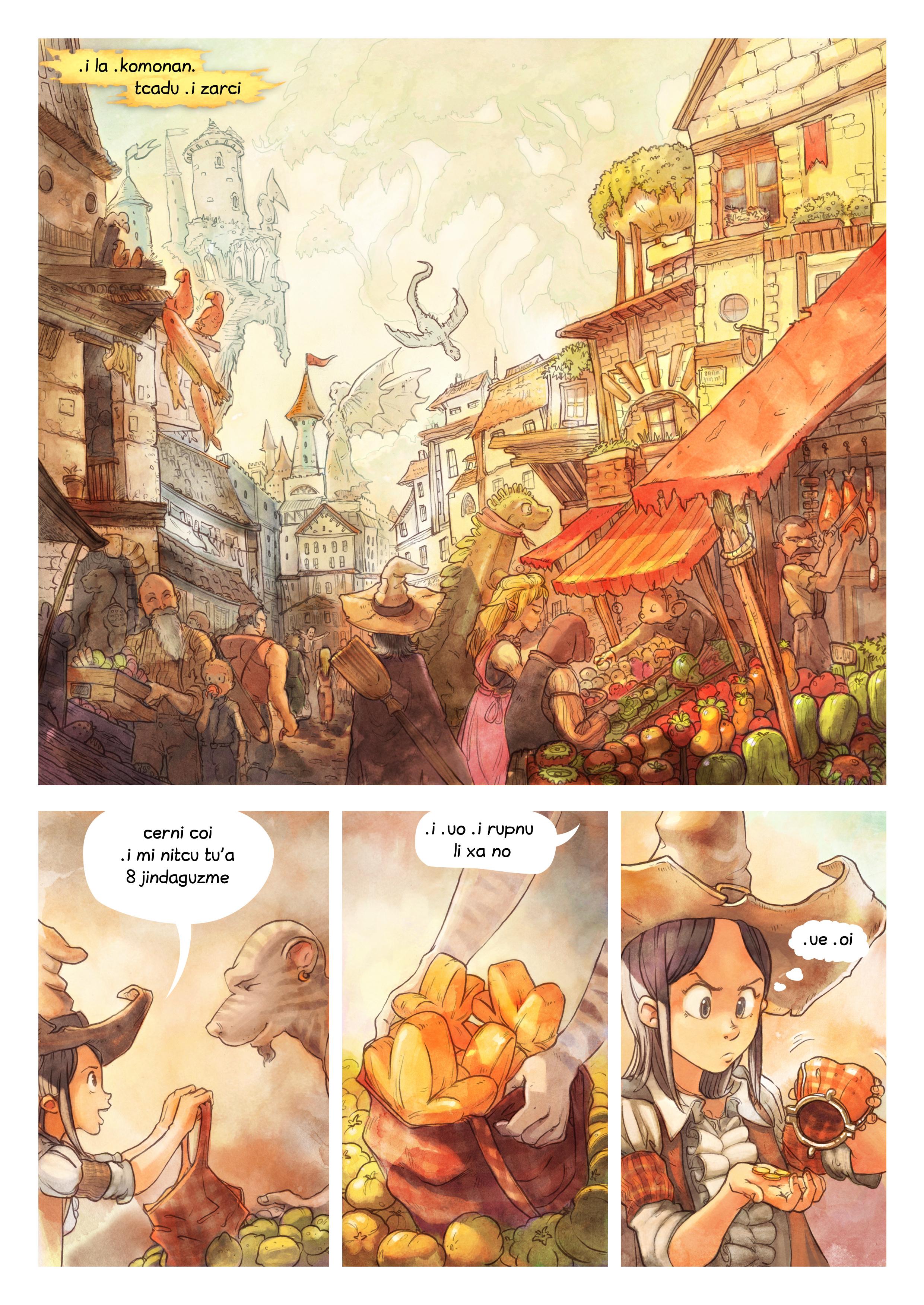 i 3 mo'o lisri le cizra se mixre, Page 1