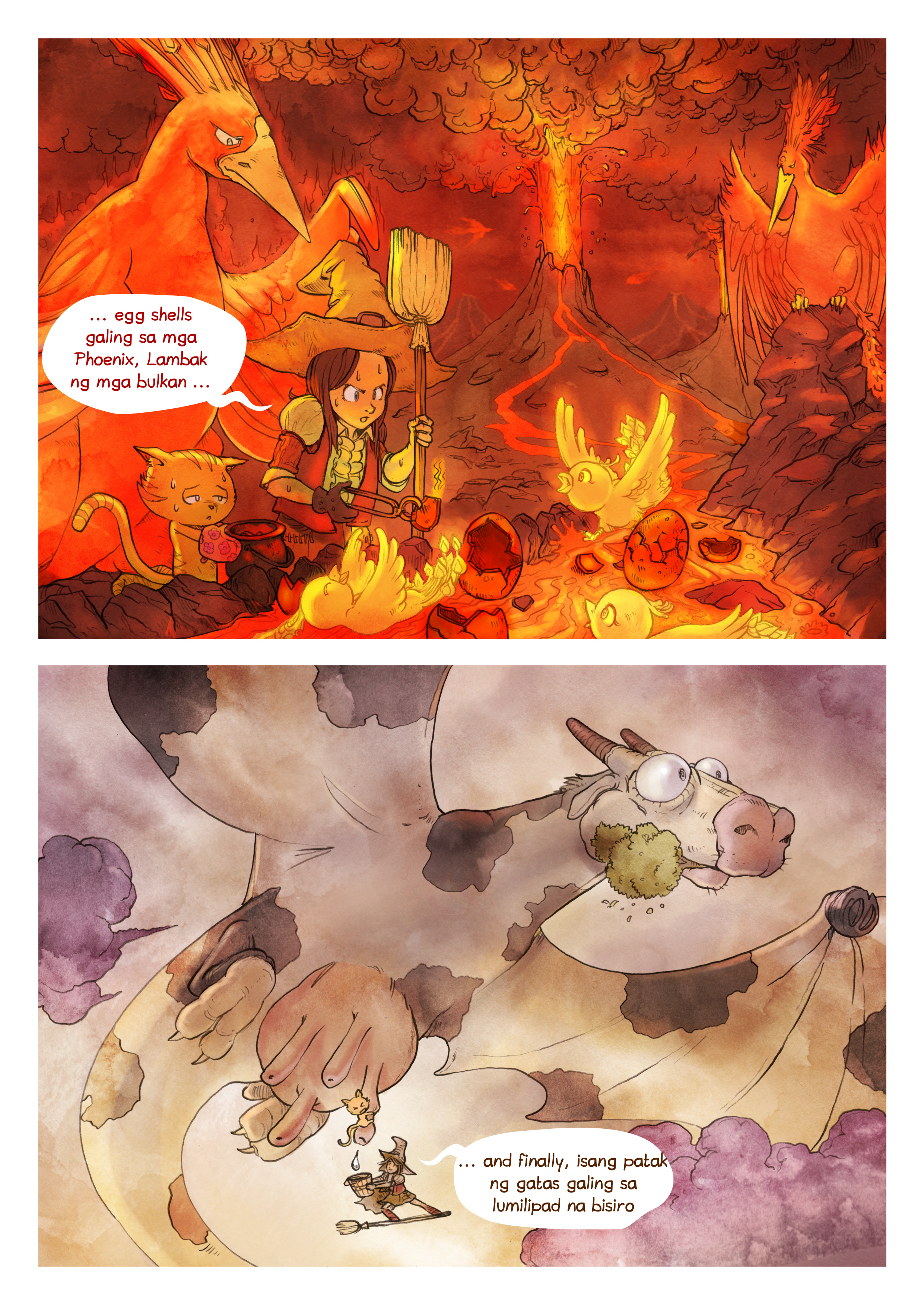 A webcomic page of Pepper&Carrot, episode 3 [ph], page 6