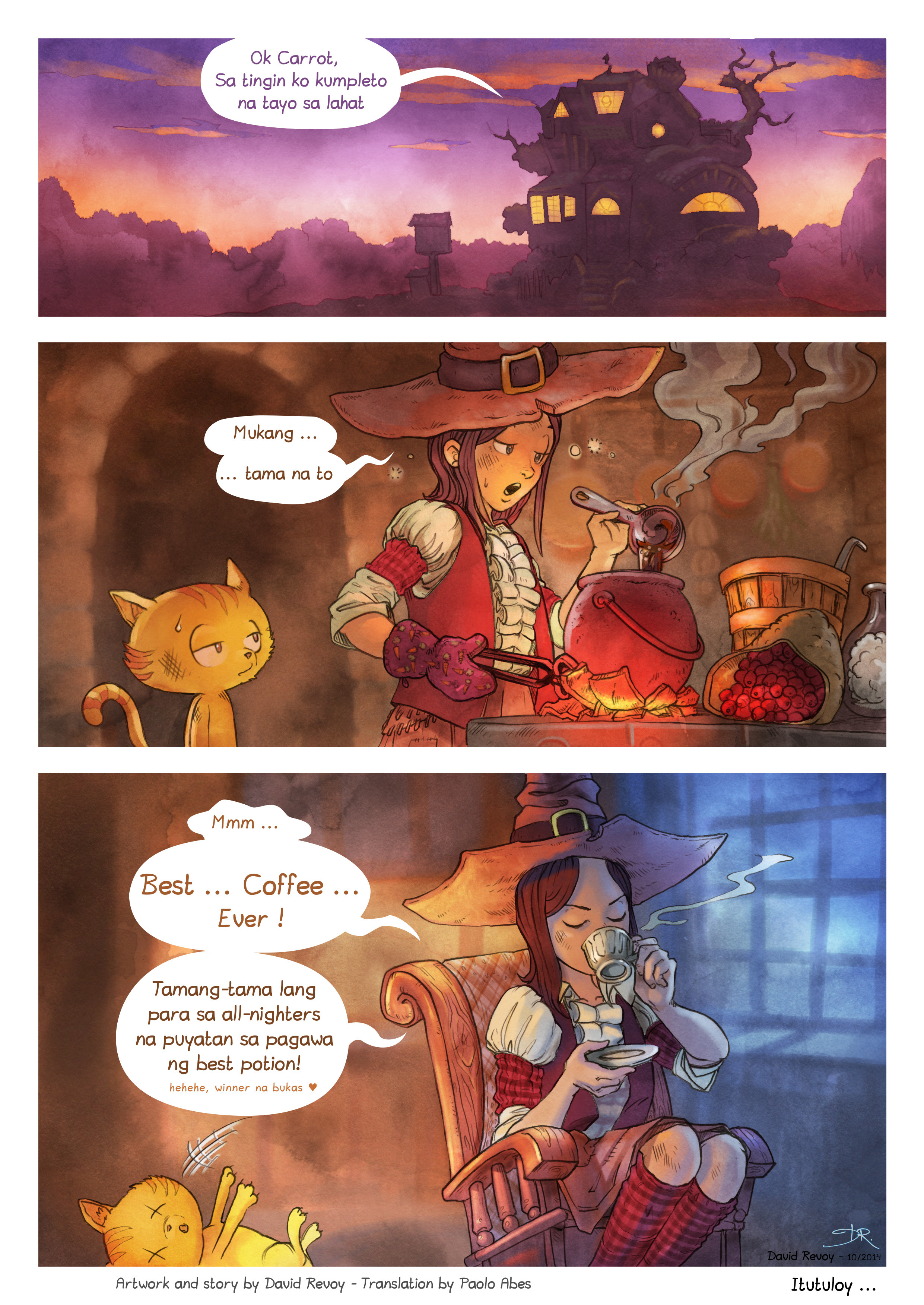 A webcomic page of Pepper&Carrot, episode 3 [ph], page 7