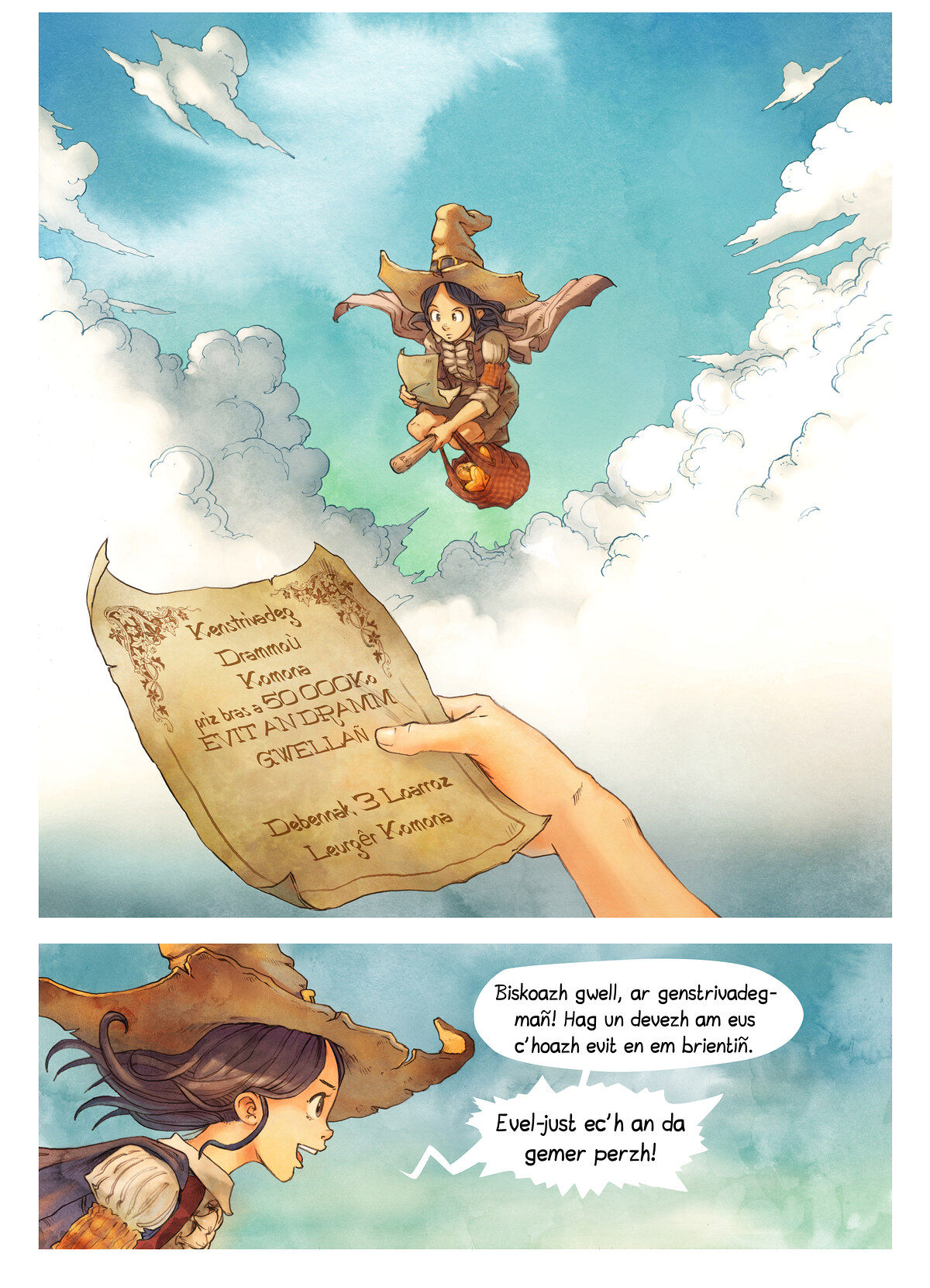 A webcomic page of Pepper&Carrot, rann 3 [br], pajenn 3