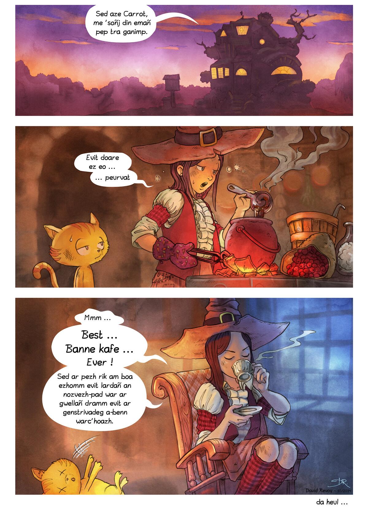 A webcomic page of Pepper&Carrot, rann 3 [br], pajenn 7