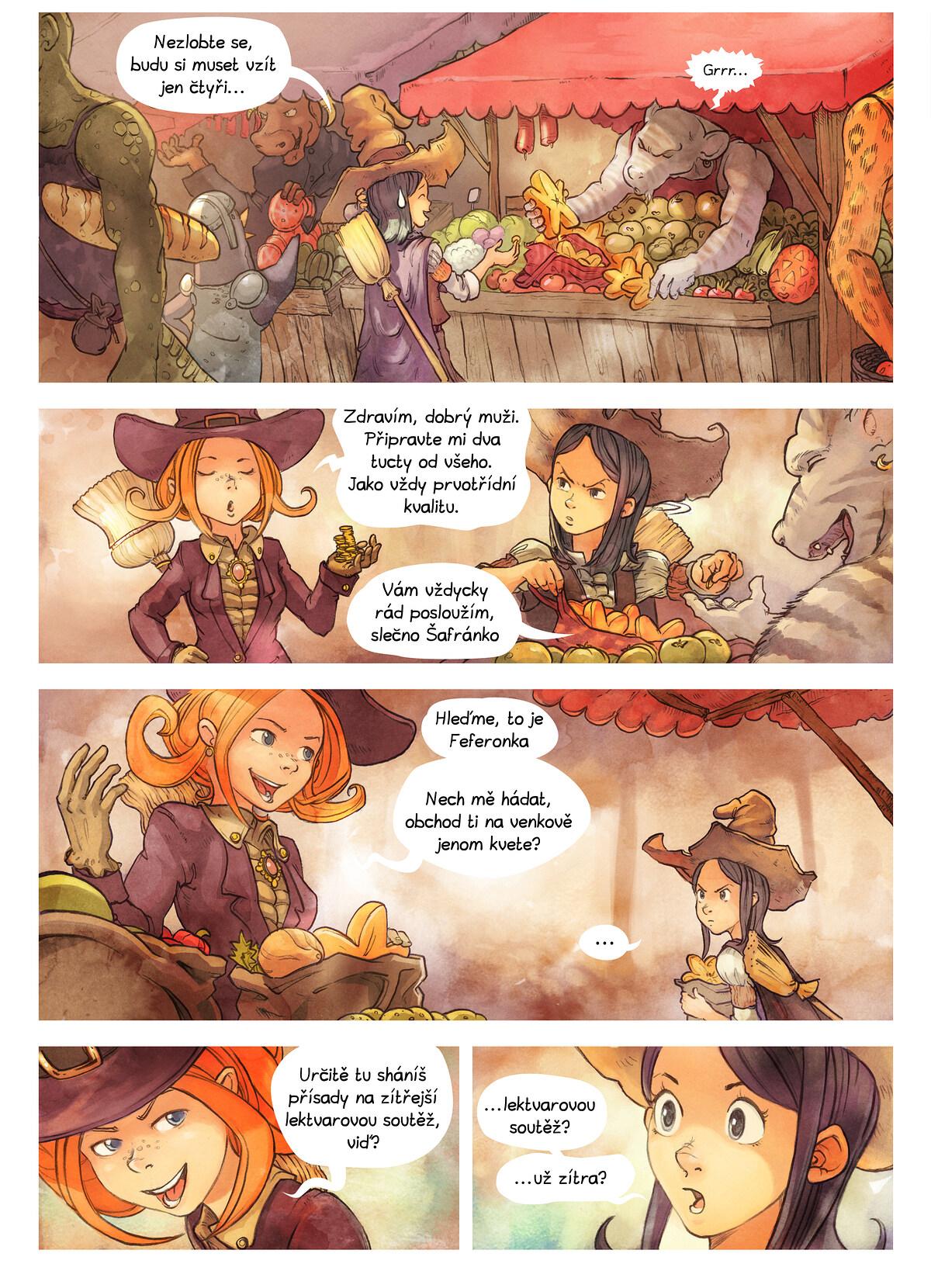 A webcomic page of Pepper&Carrot, epizoda 3 [cs], strana 2