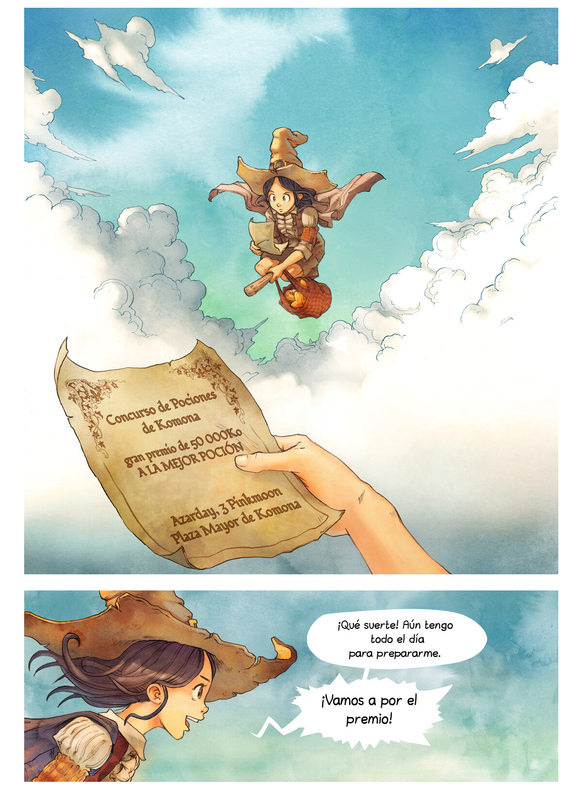 A webcomic page of Pepper&Carrot, episodio 3 , página 3
