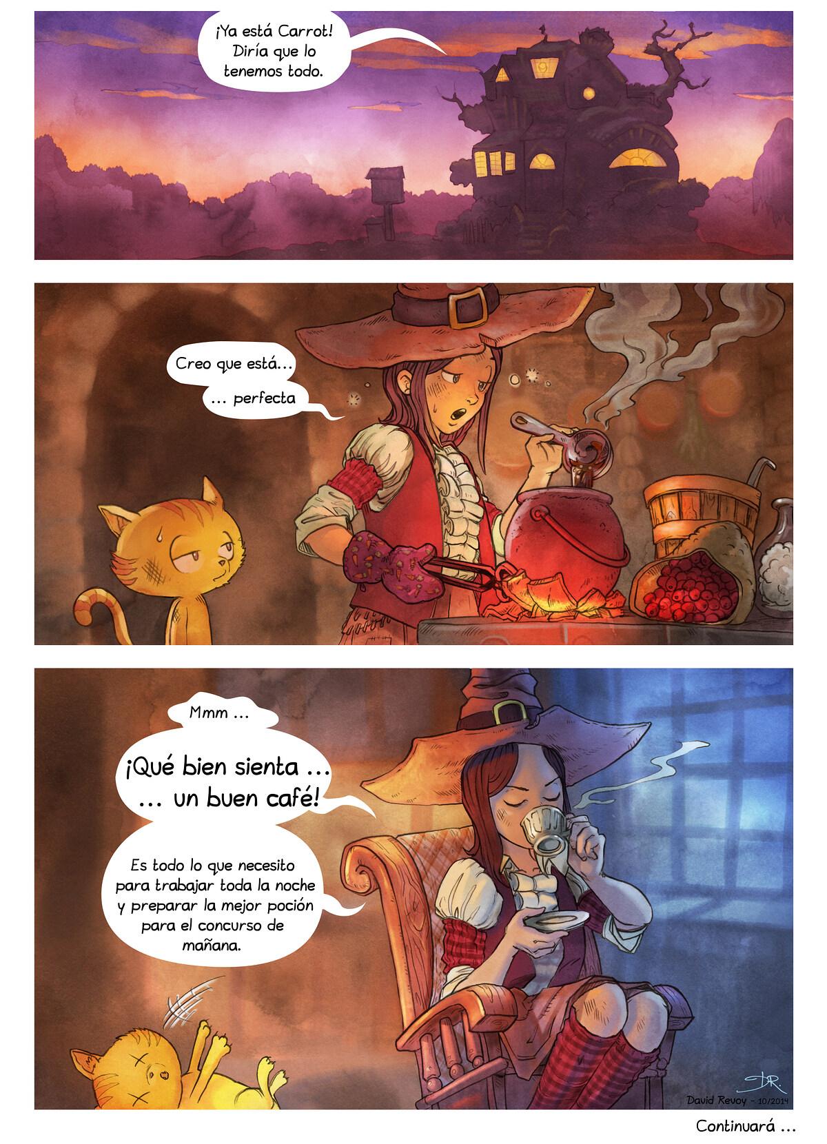 A webcomic page of Pepper&Carrot, episodio 7 , página 7