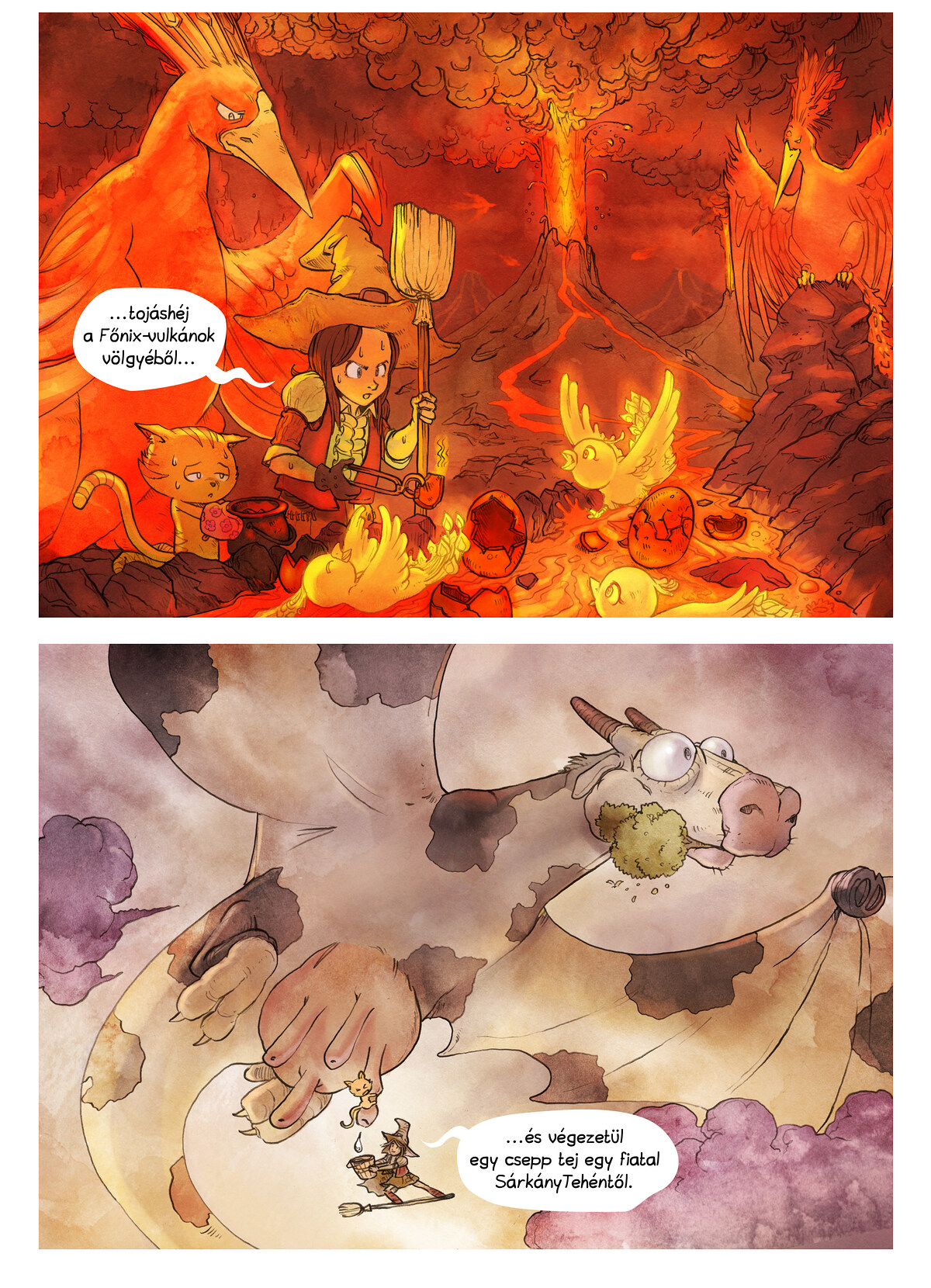 A webcomic page of Pepper&Carrot, epizód 3 [hu], oldal 6
