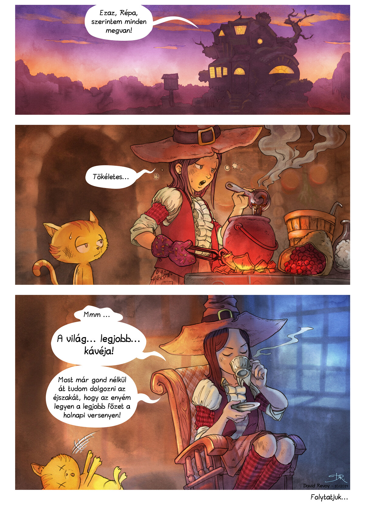 A webcomic page of Pepper&Carrot, epizód 3 [hu], oldal 7