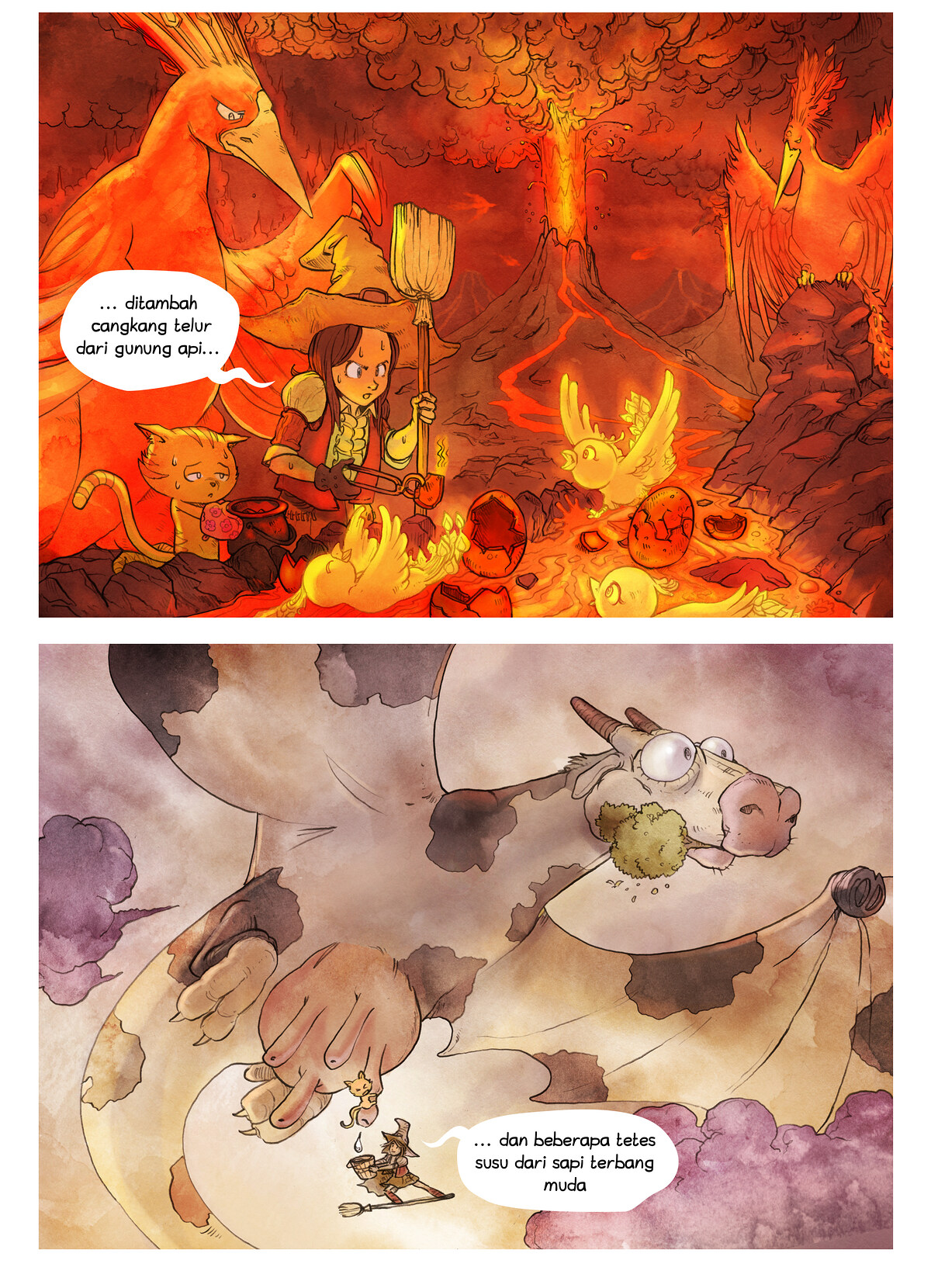 A webcomic page of Pepper&Carrot, episode 3 [id], halaman 6