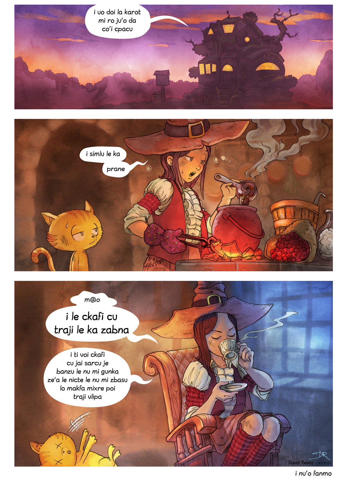 A webcomic page of Pepper&Carrot, pagbu 3 [jb], papri 7