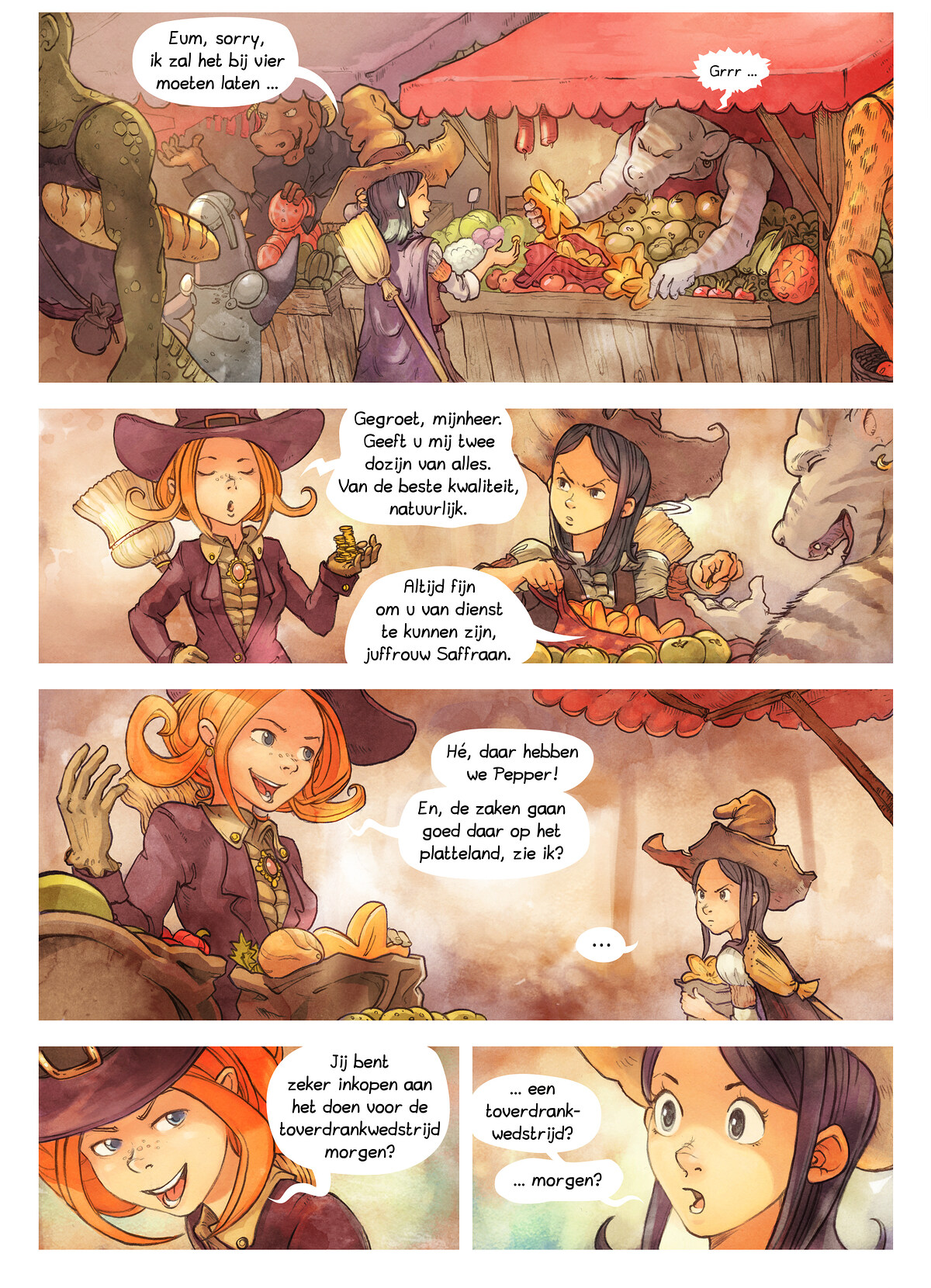A webcomic page of Pepper&Carrot, aflevering 3 [nl], pagina 2