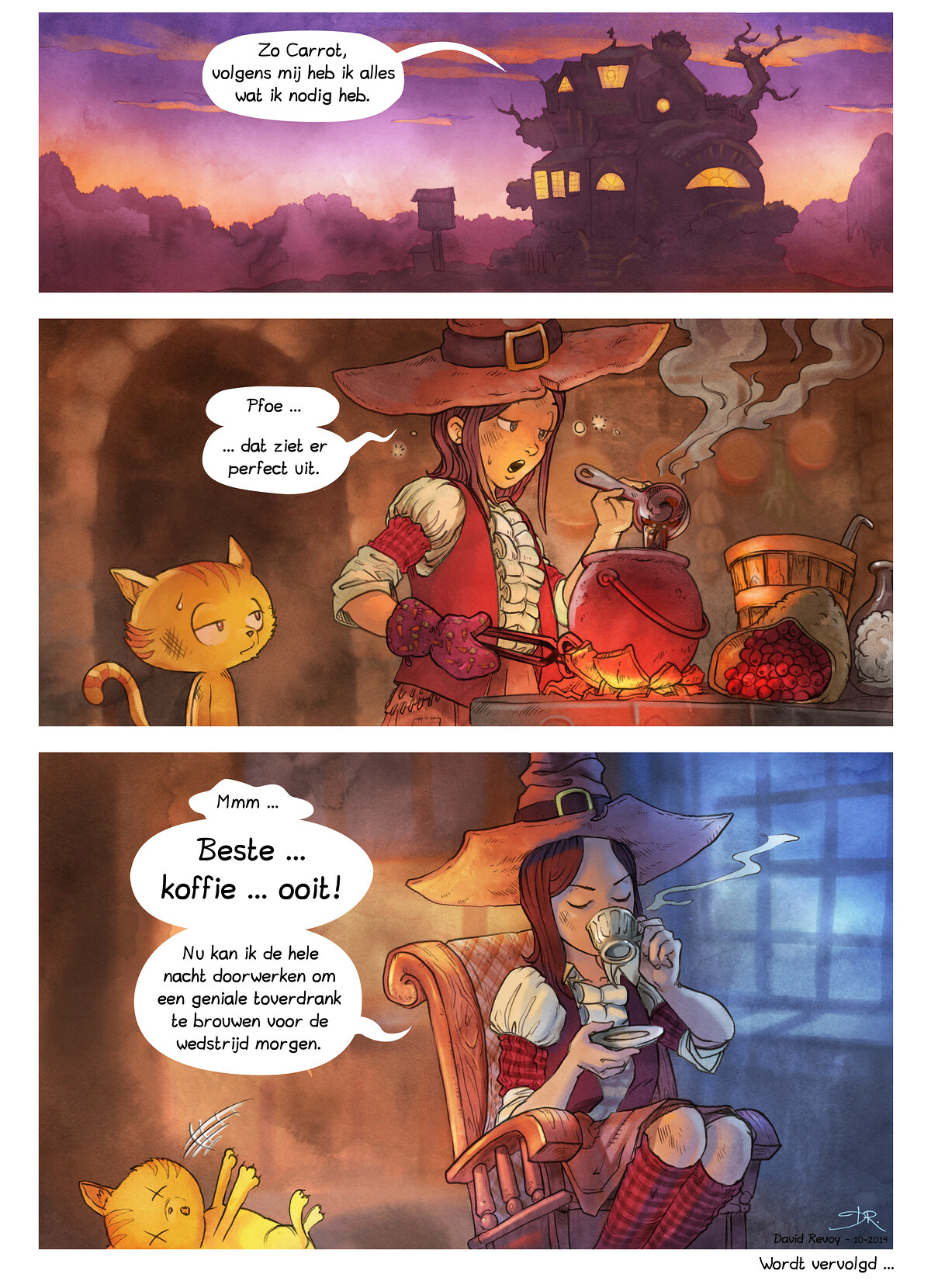 A webcomic page of Pepper&Carrot, aflevering 3 [nl], pagina 7