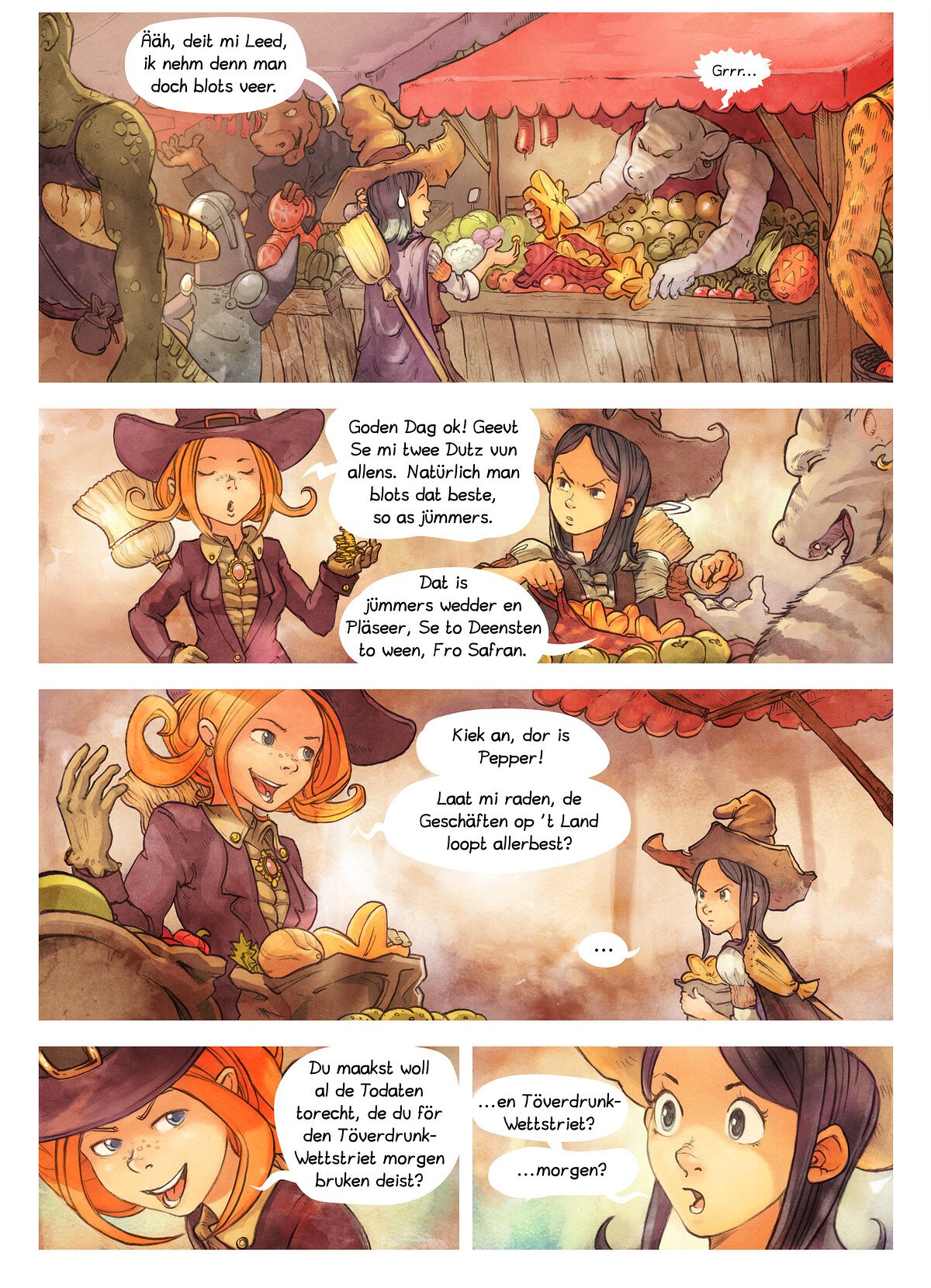 A webcomic page of Pepper&Carrot, Folg 3 [ns], Siet 2