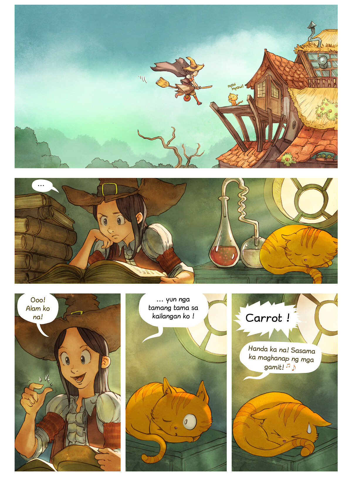 A webcomic page of Pepper&Carrot, episode 3 [ph], page 4