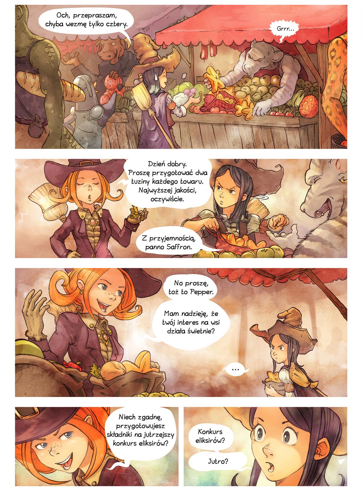 A webcomic page of Pepper&Carrot, odcinek 3 [pl], strona 2