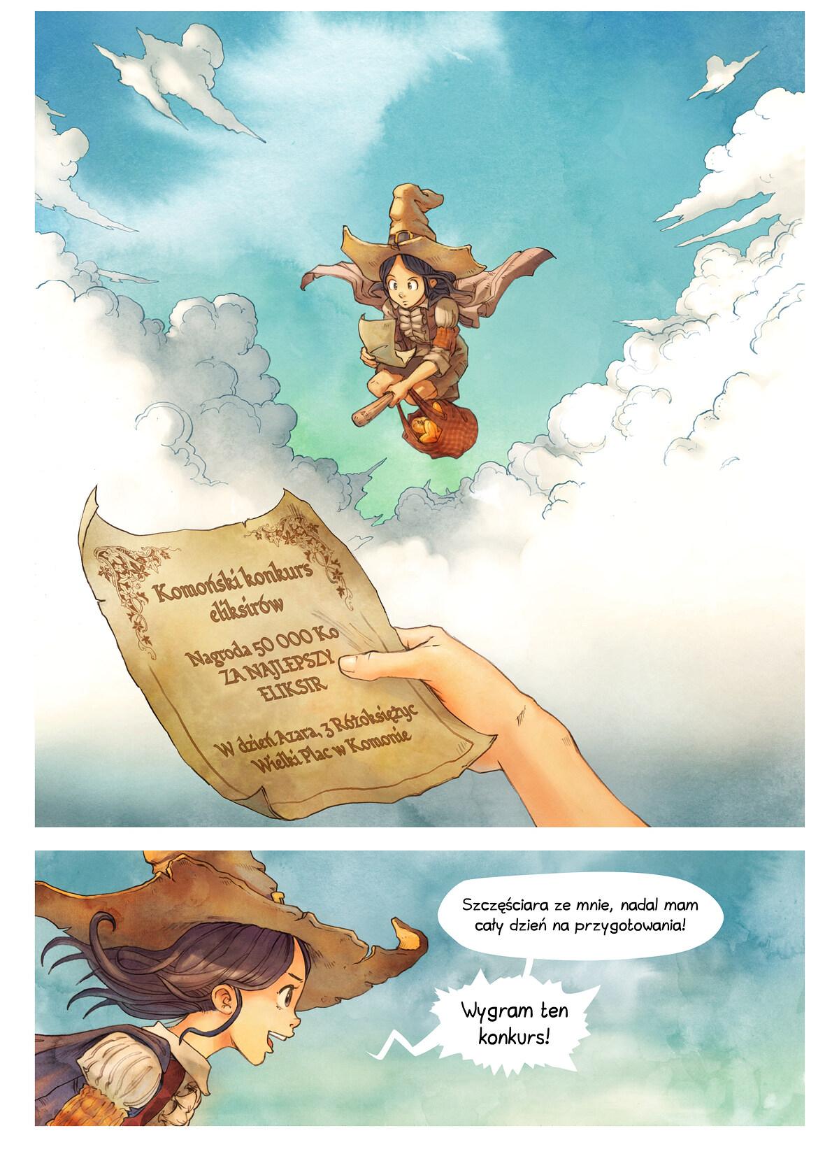 A webcomic page of Pepper&Carrot, odcinek 3 [pl], strona 3