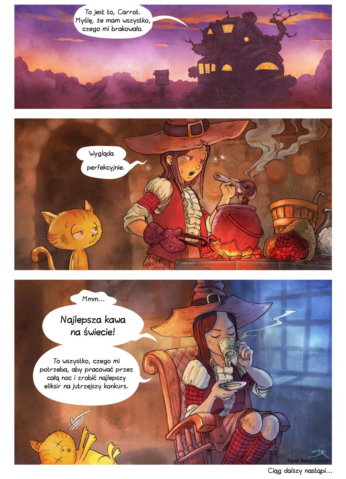 A webcomic page of Pepper&Carrot, odcinek 3 [pl], strona 7