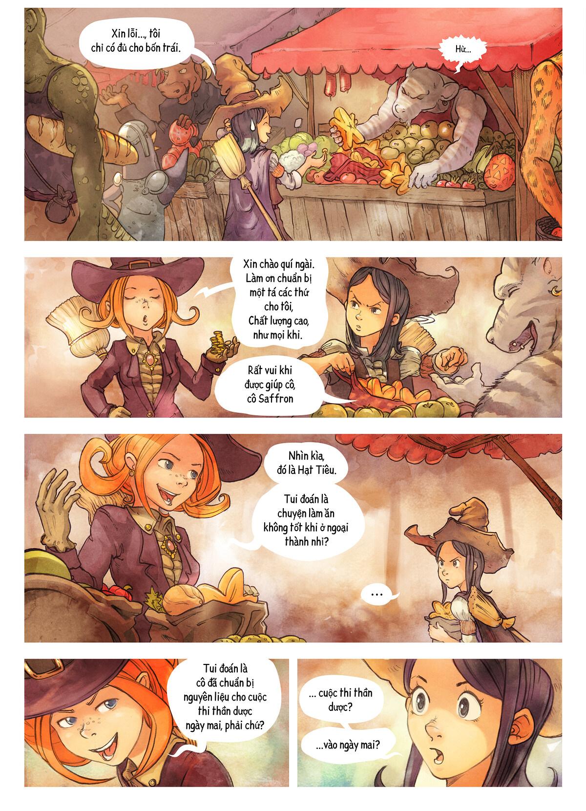 A webcomic page of Pepper&Carrot, Tập 3 [vi], trang 2