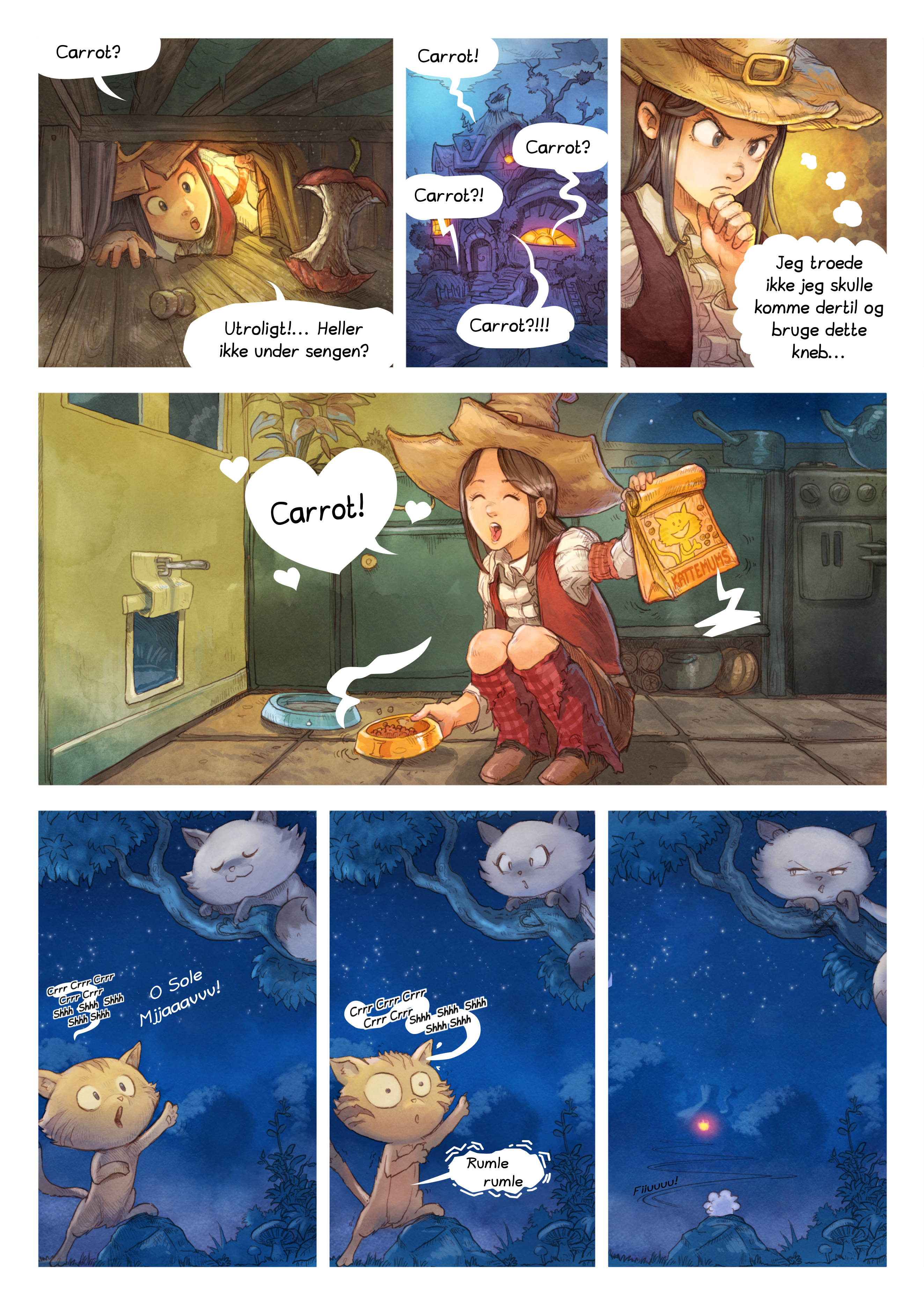 A webcomic page of Pepper&Carrot, episode 4 [da], page 2