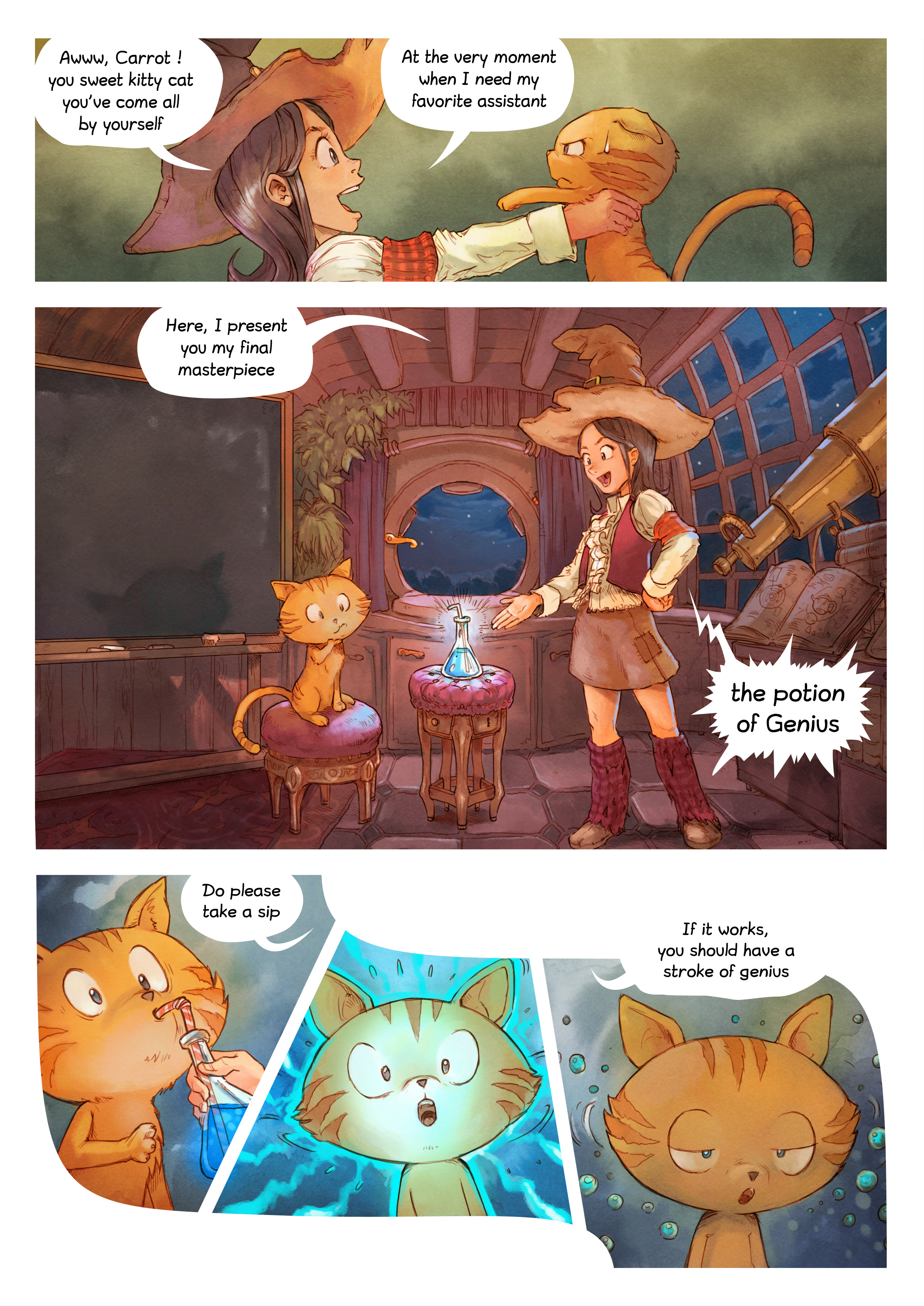 A webcomic page of Pepper&Carrot, episode 4 [en], page 3