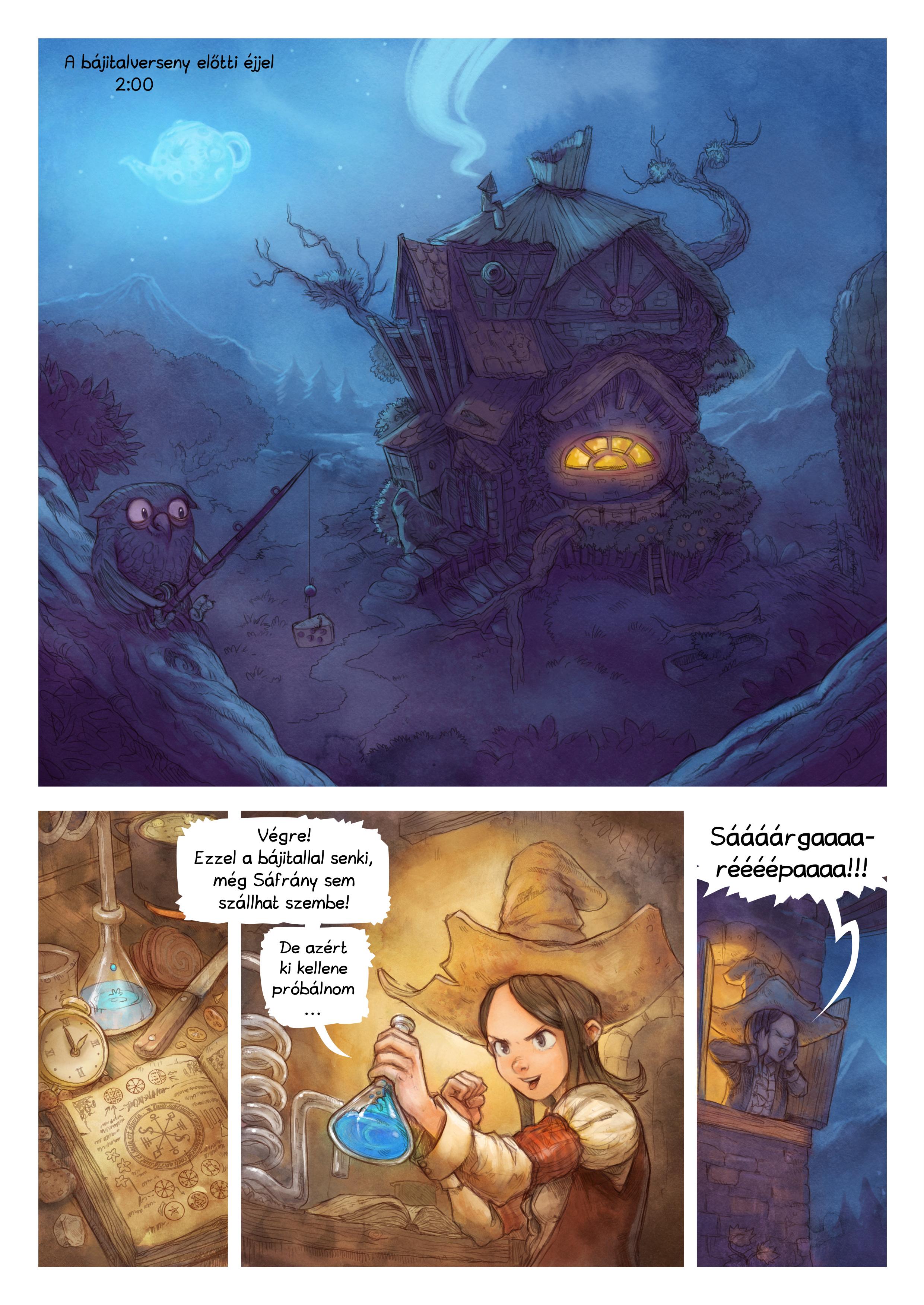 A webcomic page of Pepper&Carrot, epizód 4 [hu], oldal 1