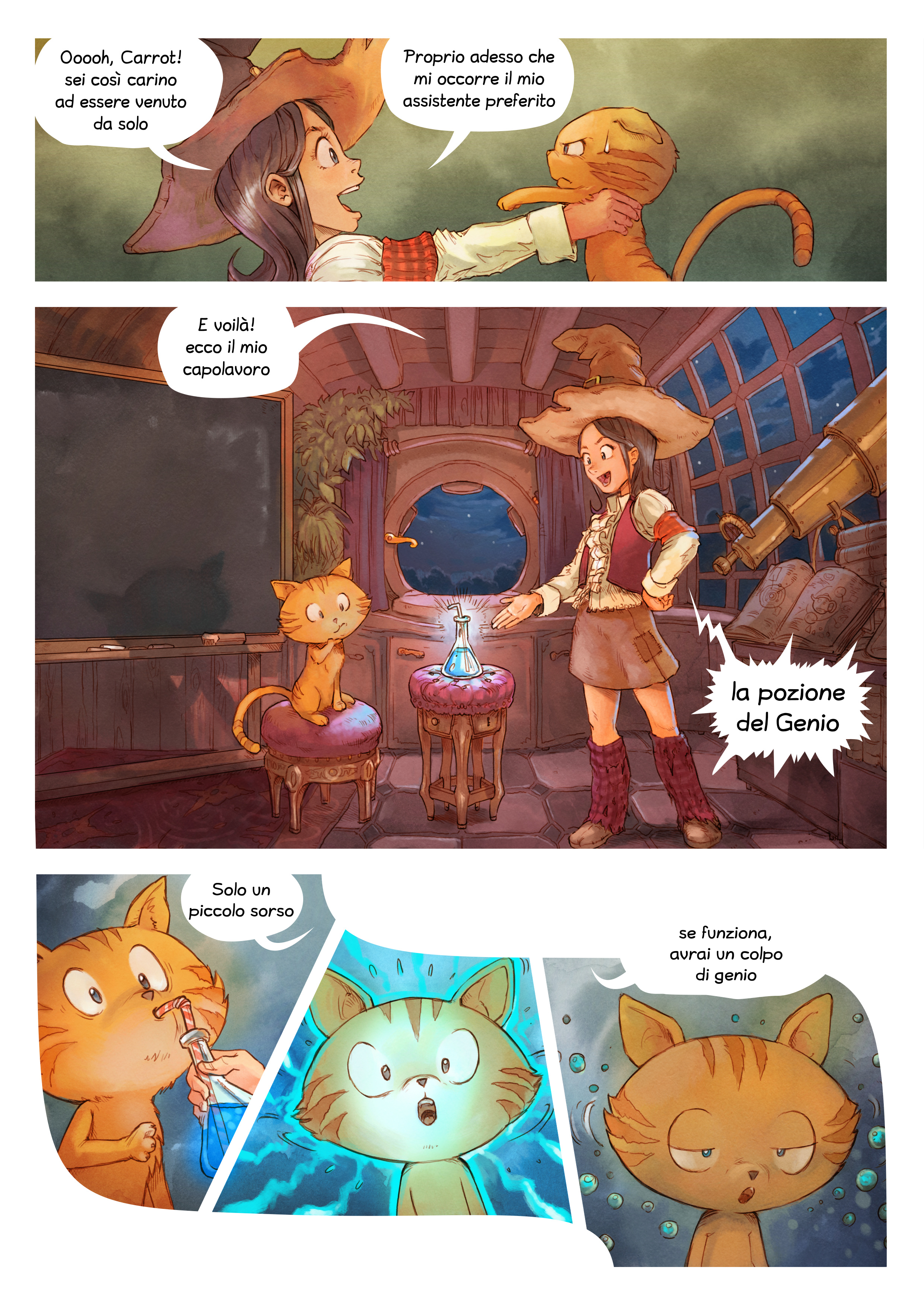 A webcomic page of Pepper&Carrot, episodio 4 [it], pagina 3