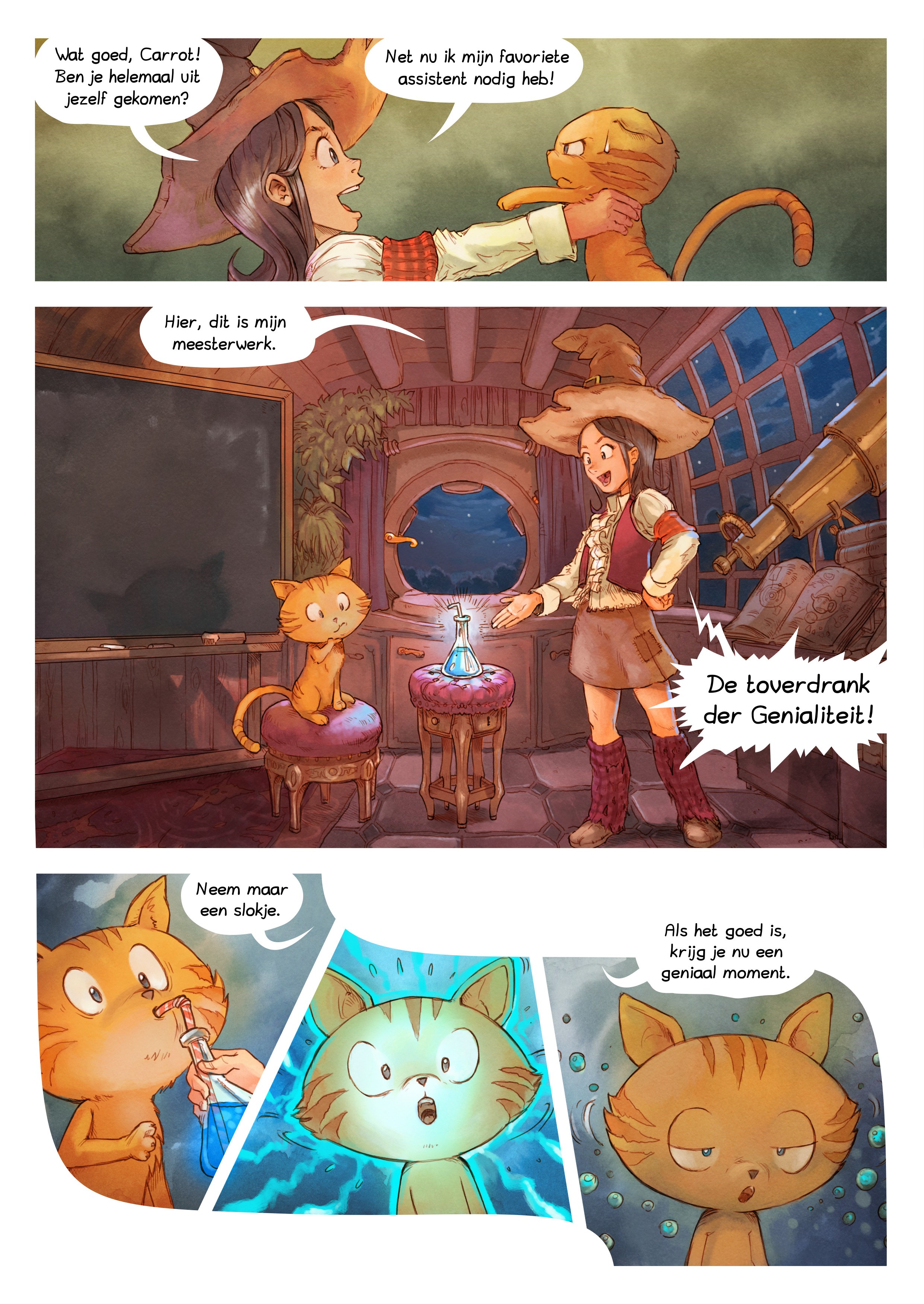 A webcomic page of Pepper&Carrot, aflevering 4 [nl], pagina 3