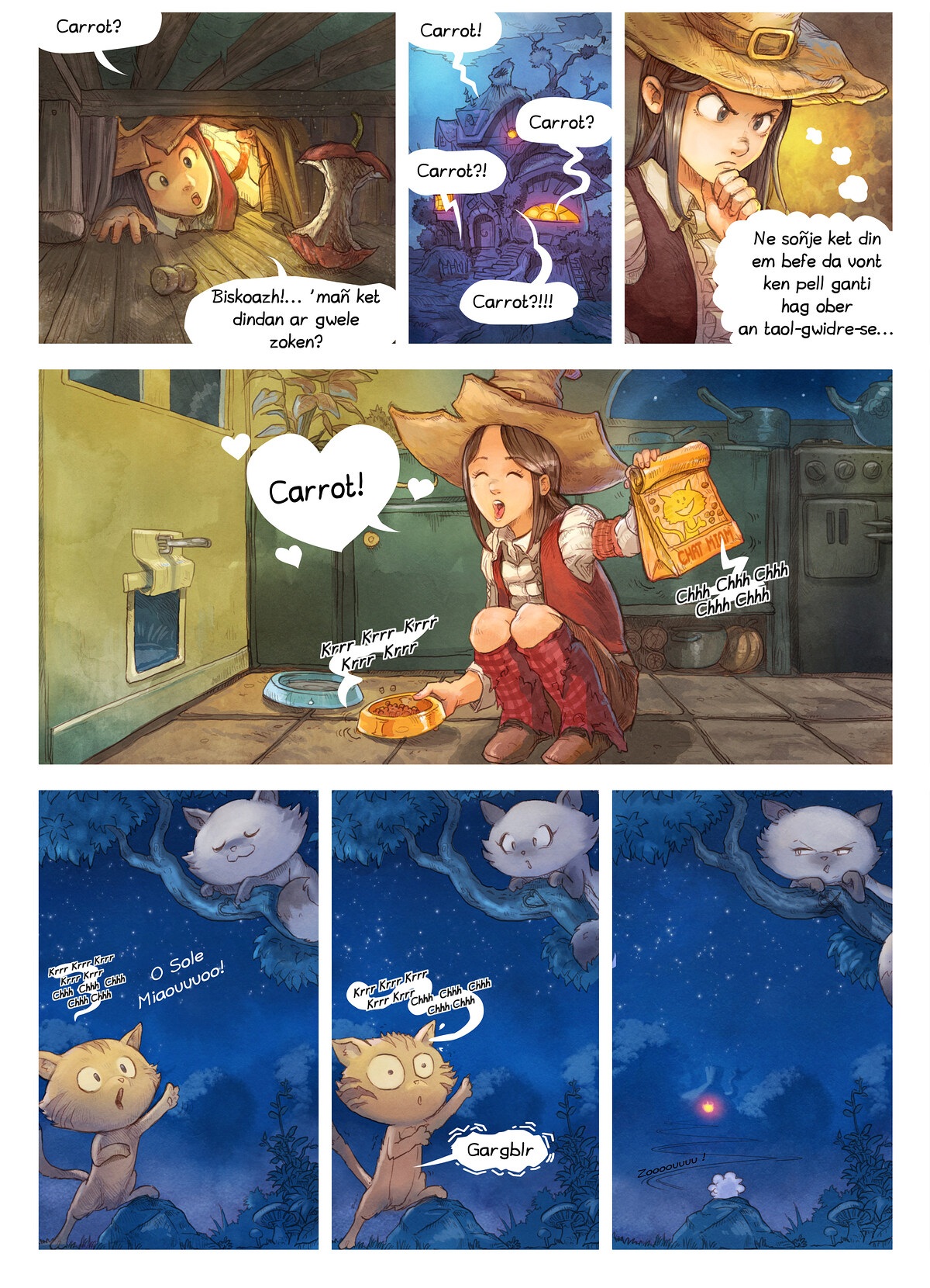 A webcomic page of Pepper&Carrot, rann 4 [br], pajenn 2