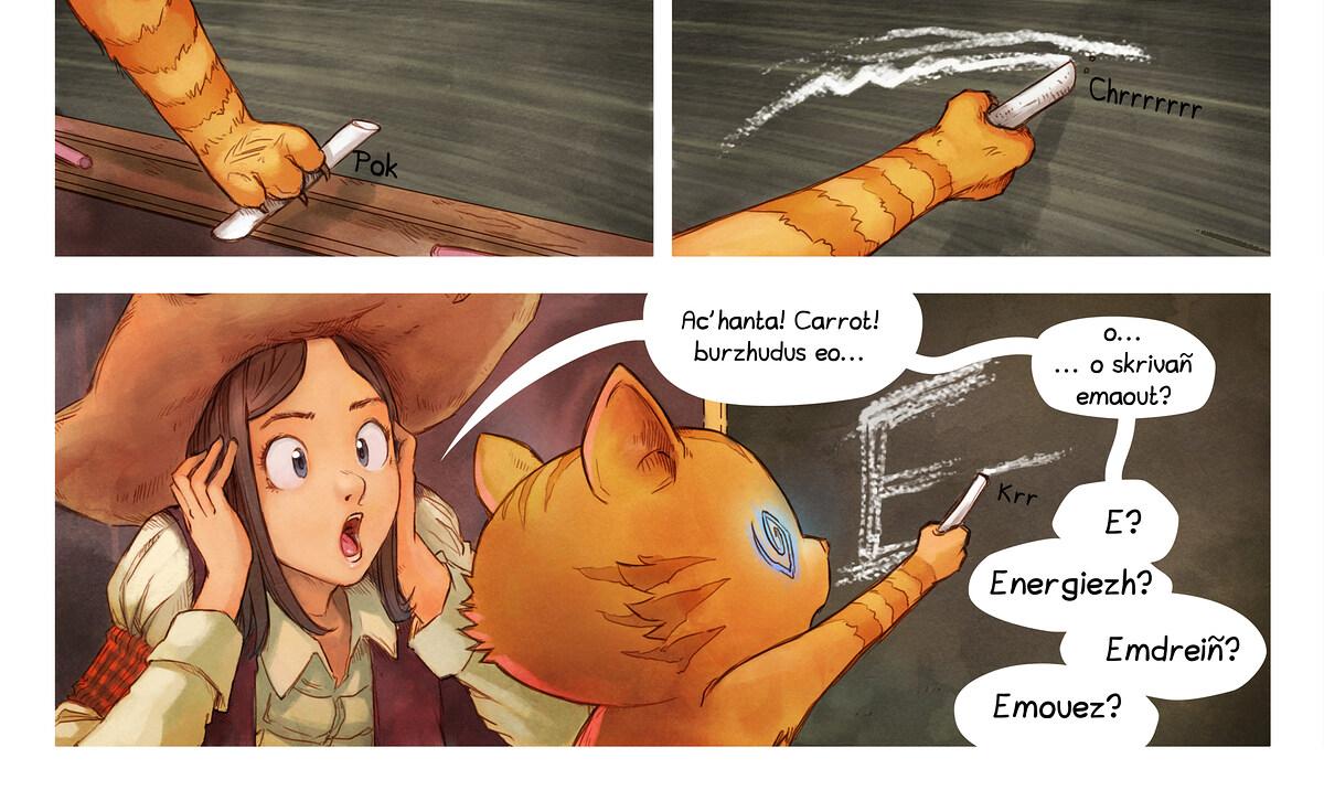 A webcomic page of Pepper&Carrot, rann 4 [br], pajenn 6