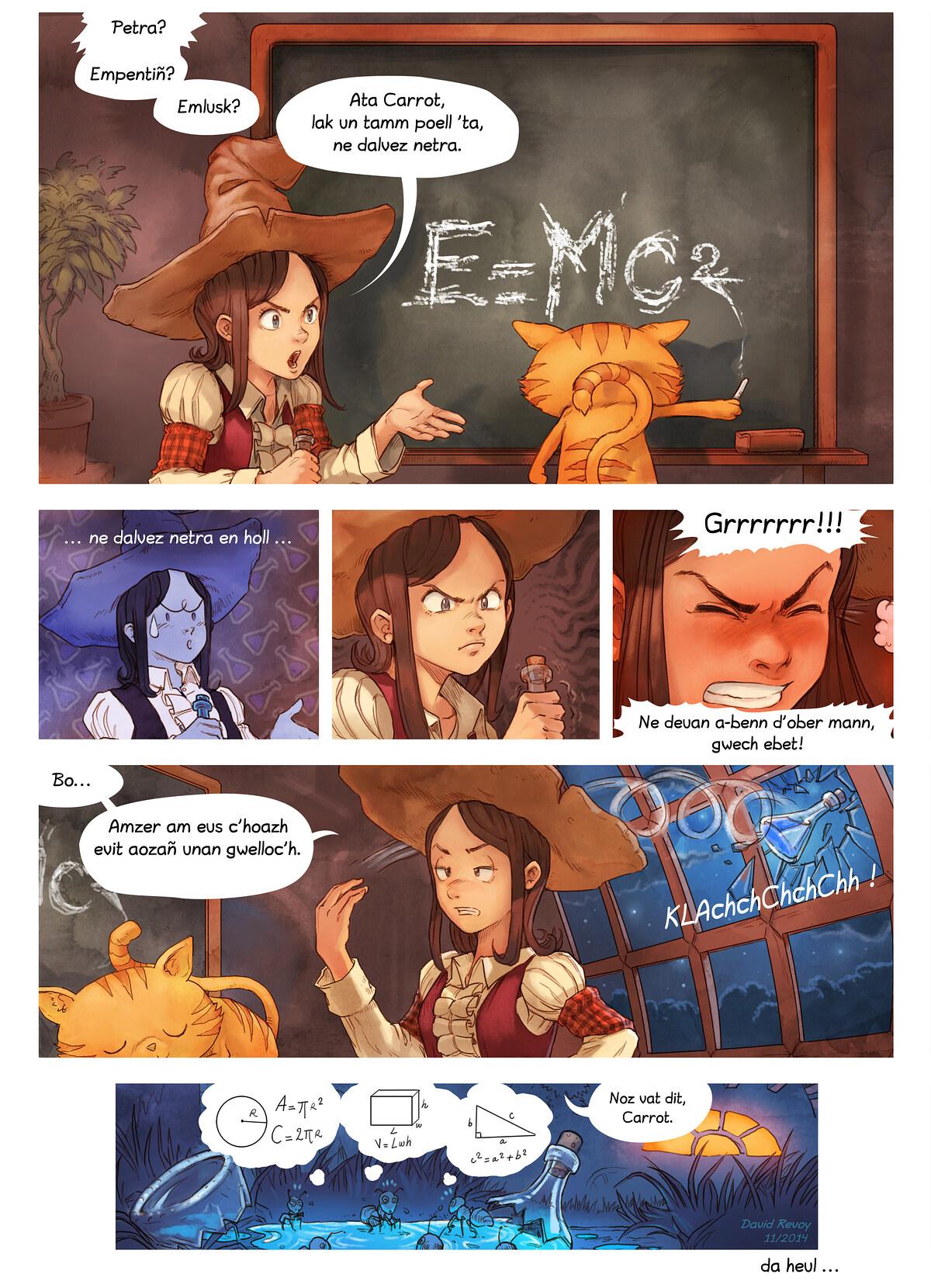 A webcomic page of Pepper&Carrot, rann 4 [br], pajenn 7