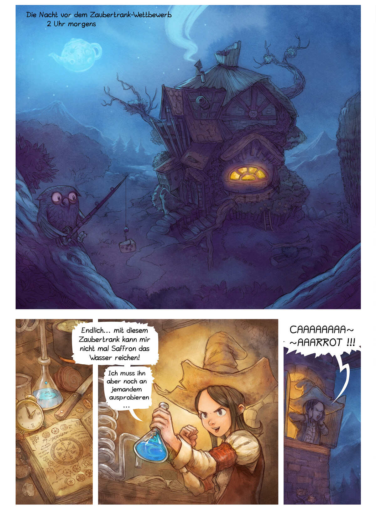 A webcomic page of Pepper&Carrot, Episode 4 [de], Seite 1