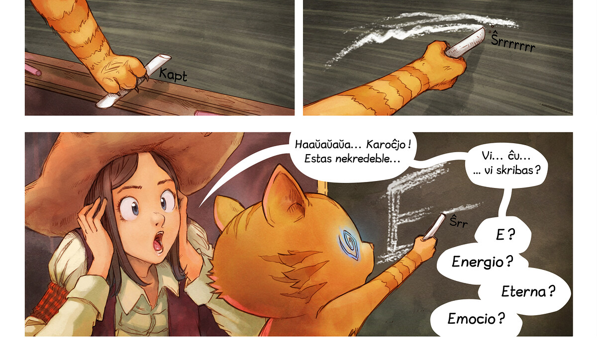 A webcomic page of Pepper&Carrot, rakonto 4 [eo], paĝo 6