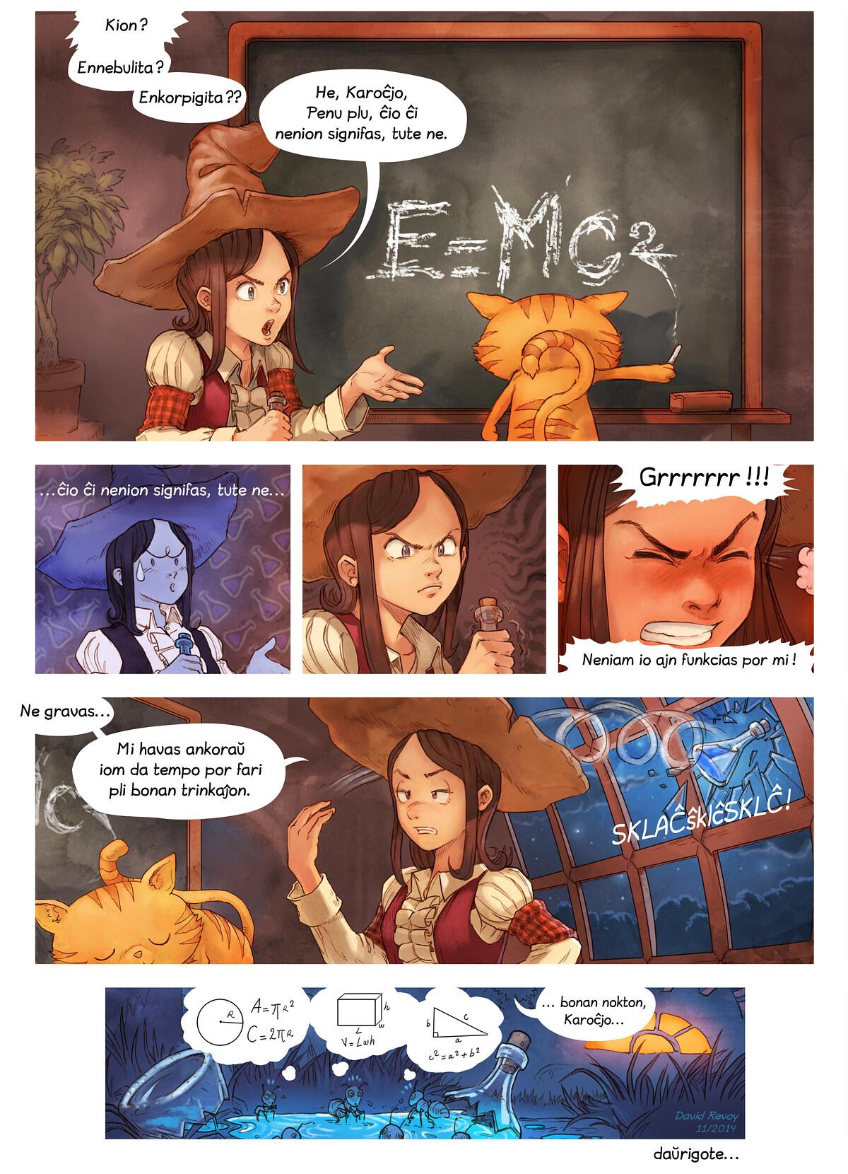 A webcomic page of Pepper&Carrot, rakonto 4 [eo], paĝo 7