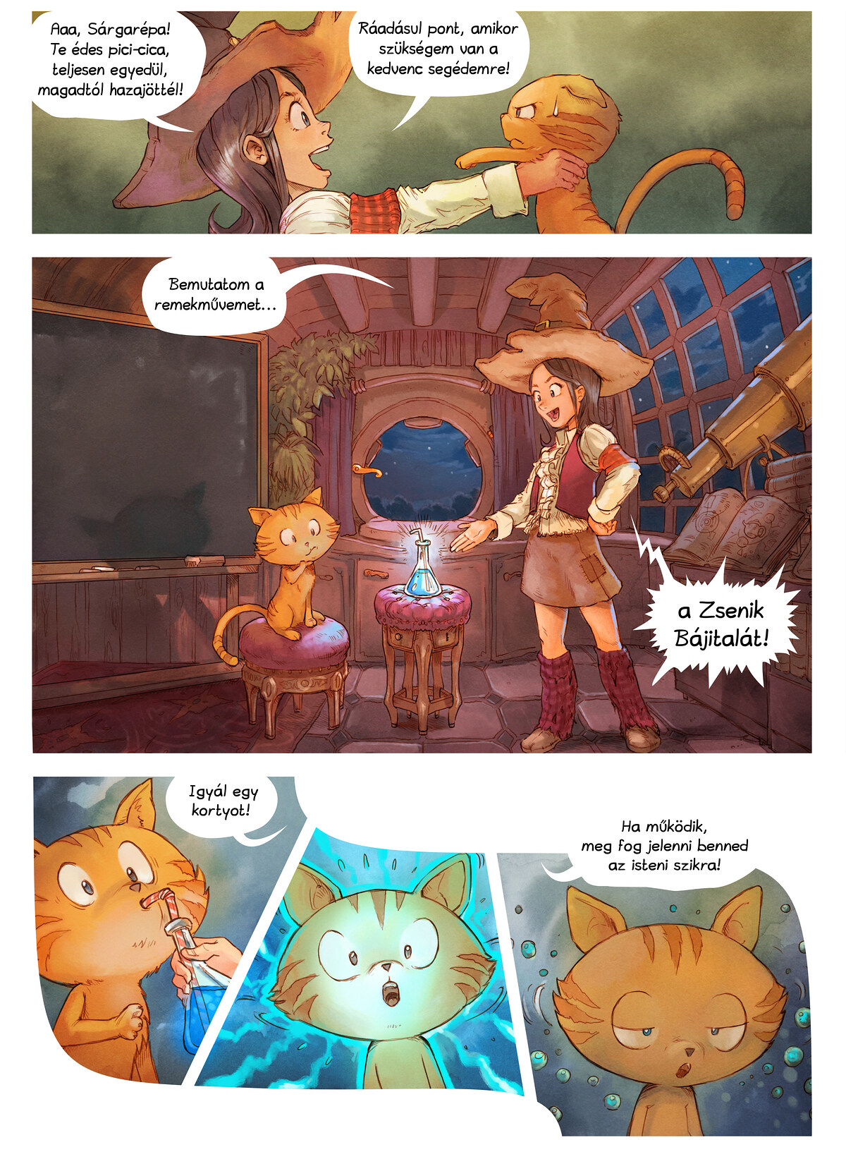 A webcomic page of Pepper&Carrot, epizód 4 [hu], oldal 3