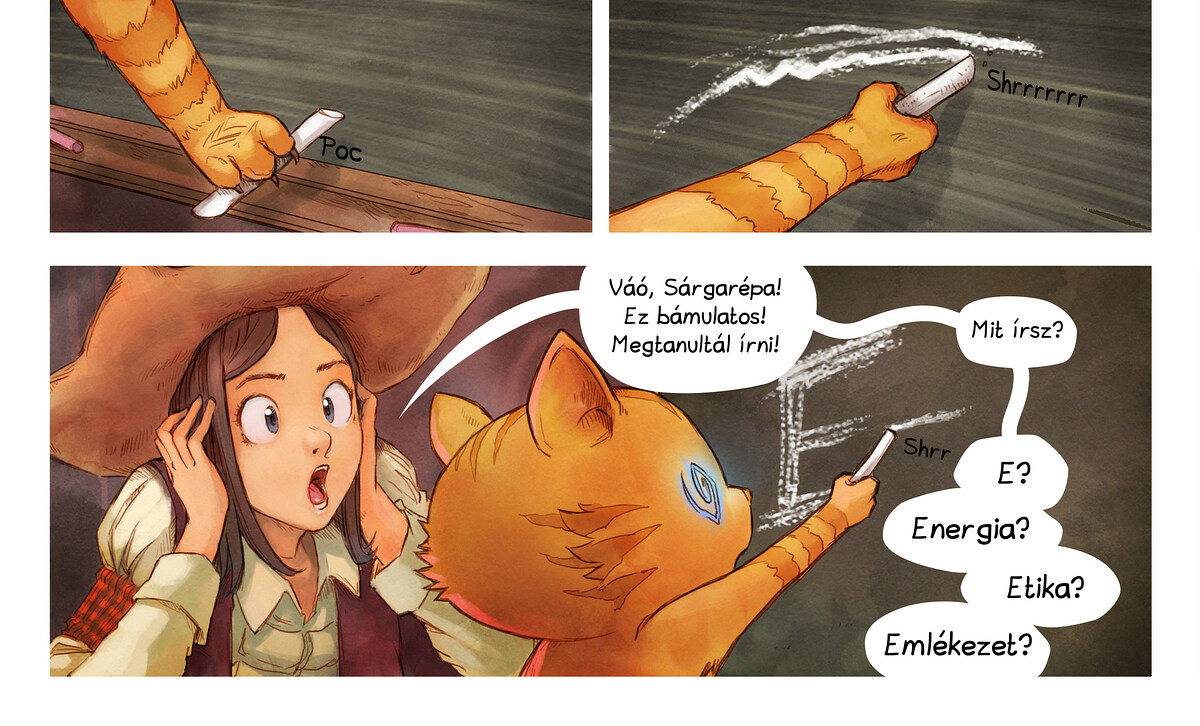 A webcomic page of Pepper&Carrot, epizód 4 [hu], oldal 6